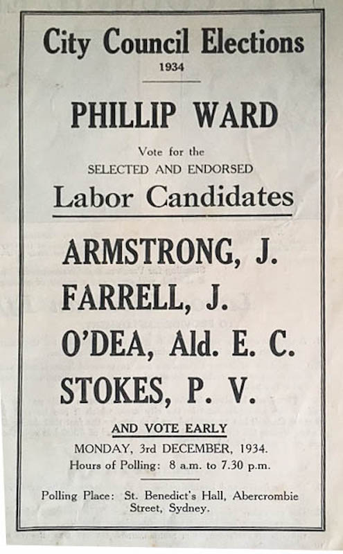 How to vote - Council election 1934