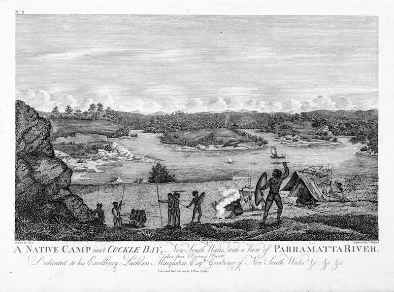 A Native Camp near Cockle Bay 1812