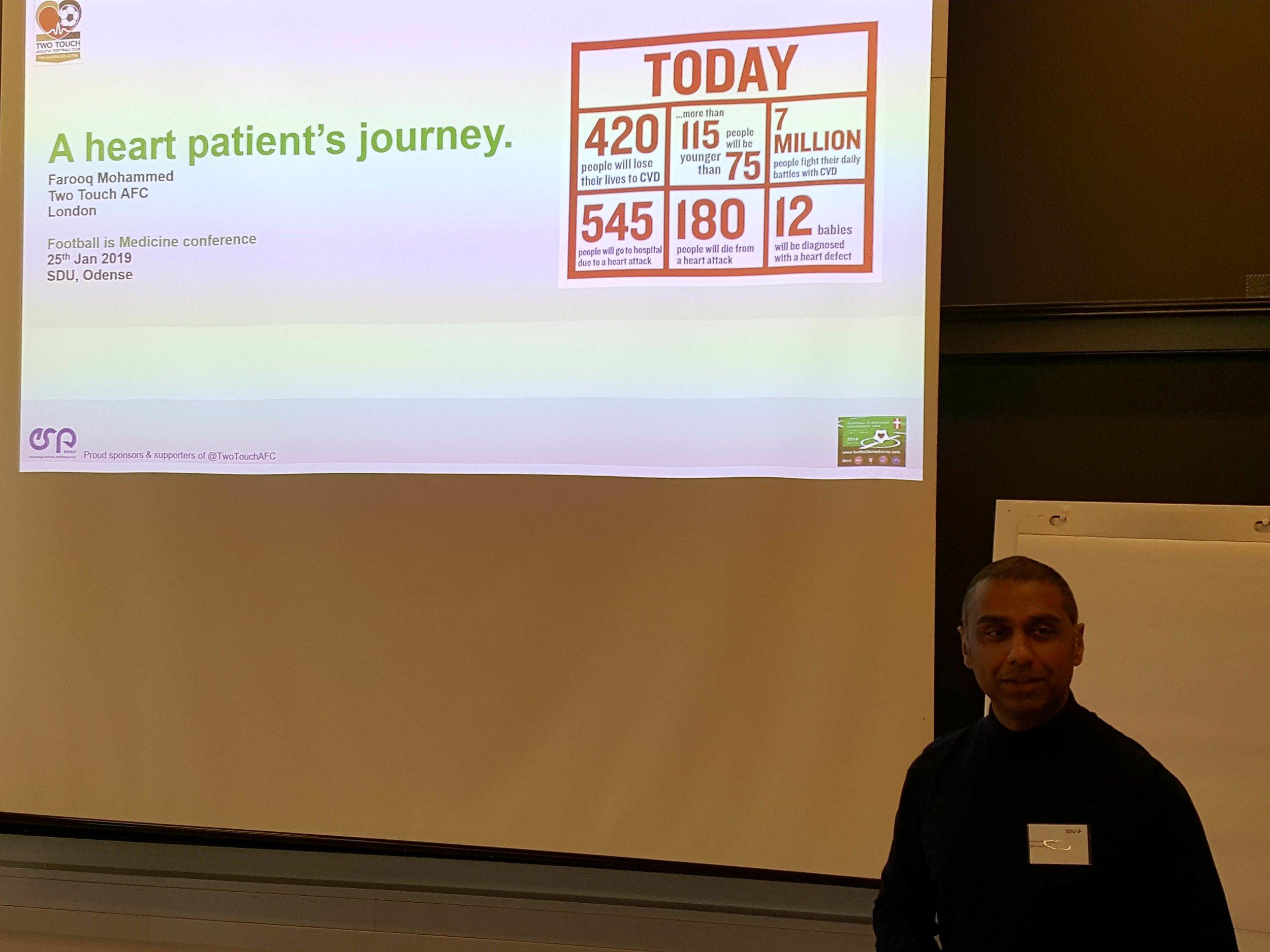 Football is Medicine: Fodboldprojektet Two Touch United AFC havde haft enorm betydning for Farooq Mohammed og andre hjertepatienter fra London.  Foto: Henrik H. Brandt