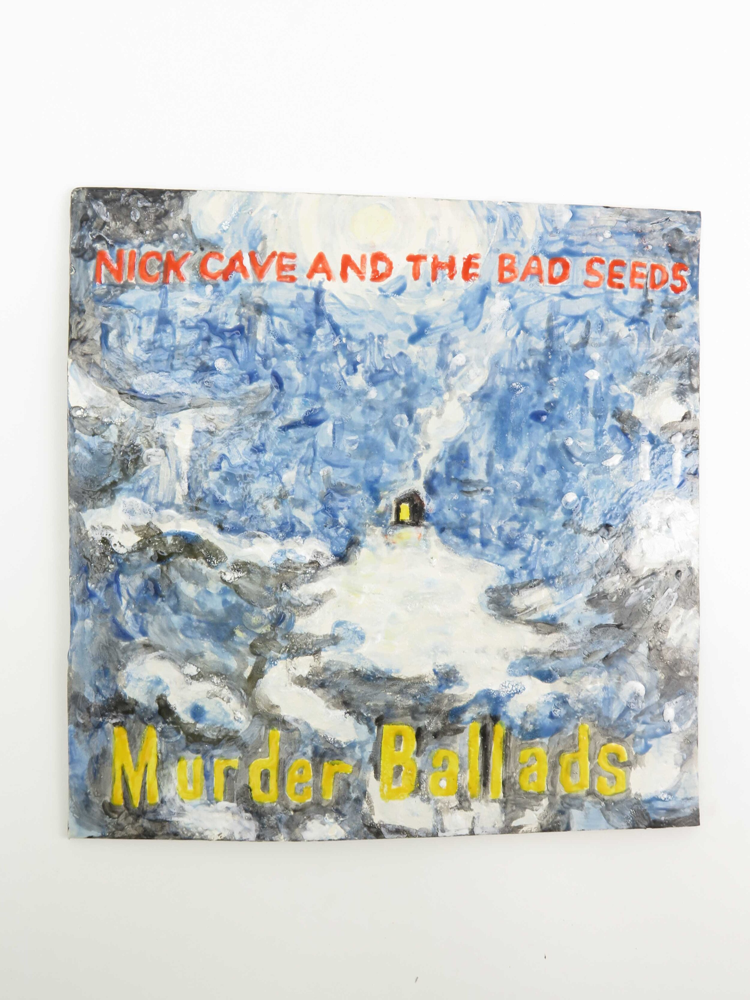 Nick Cave and the Bad Seeds_ Murder Ballads_2019, glazed paper clay, 29 x 29x 0,5 cm.jpg