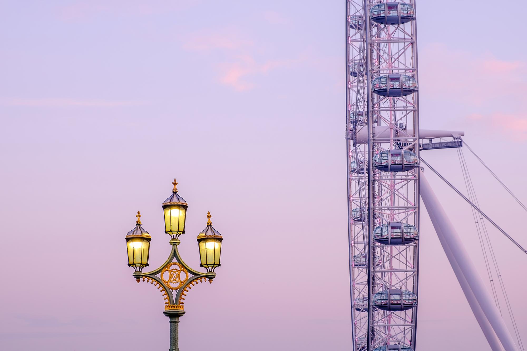 A photo of the London Eye taken at sunrise by Trevor Sherwin
