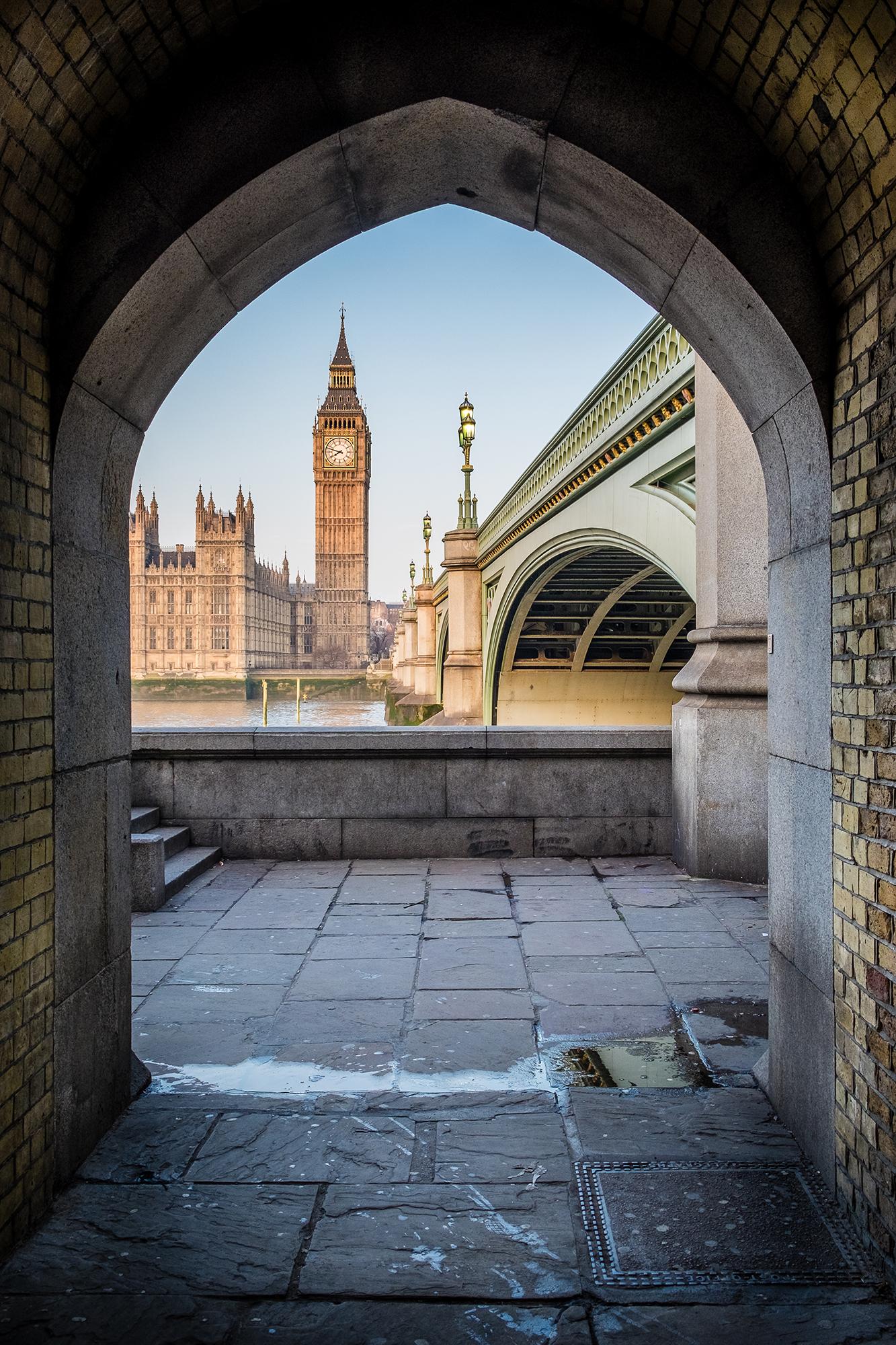 A photo of Big Ben taken from underneath Westminster Bridge taken by Trevor Sherwin
