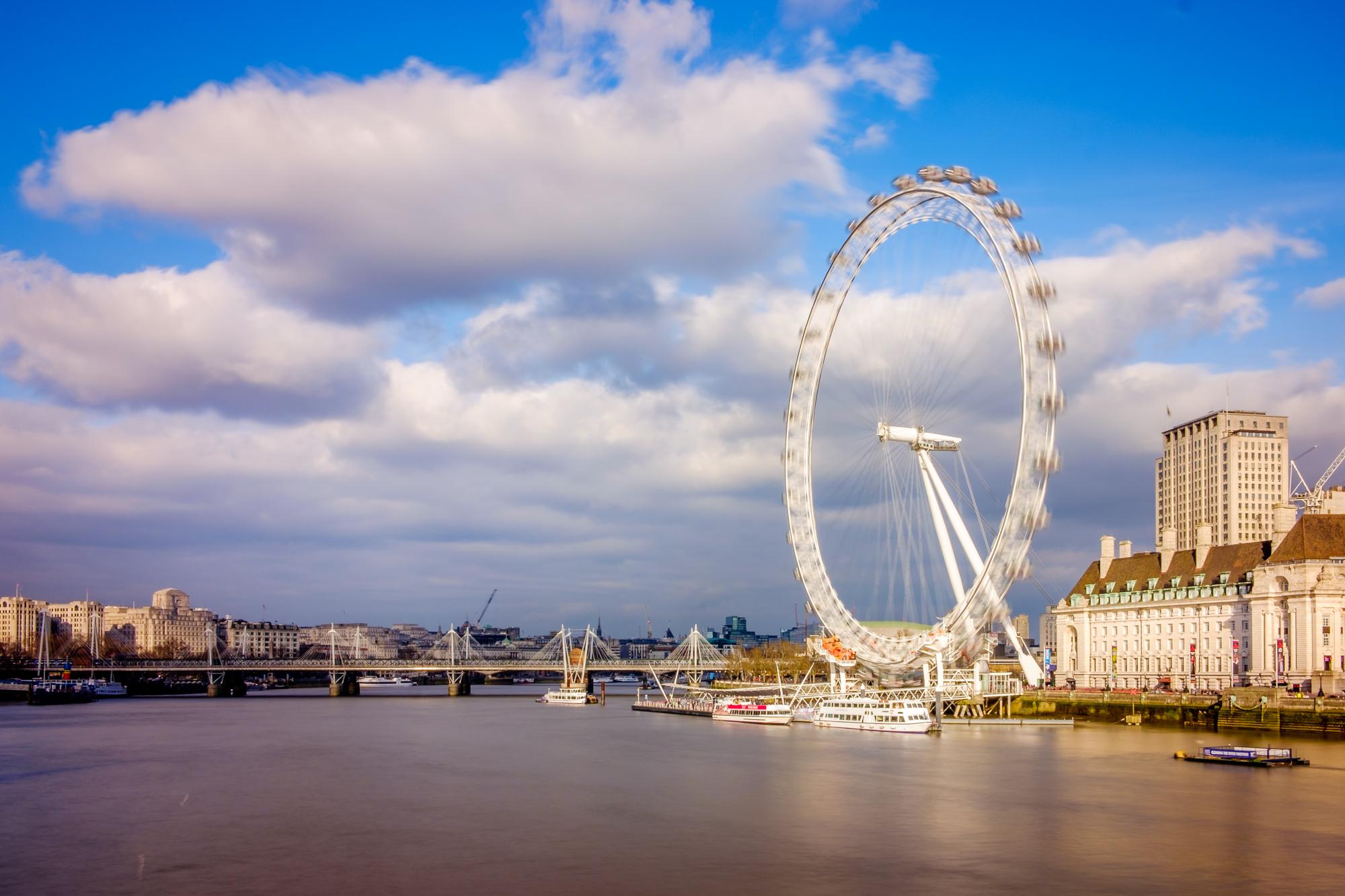 A photo of The London Eye in the golden sun taken by Trevor Sherwin