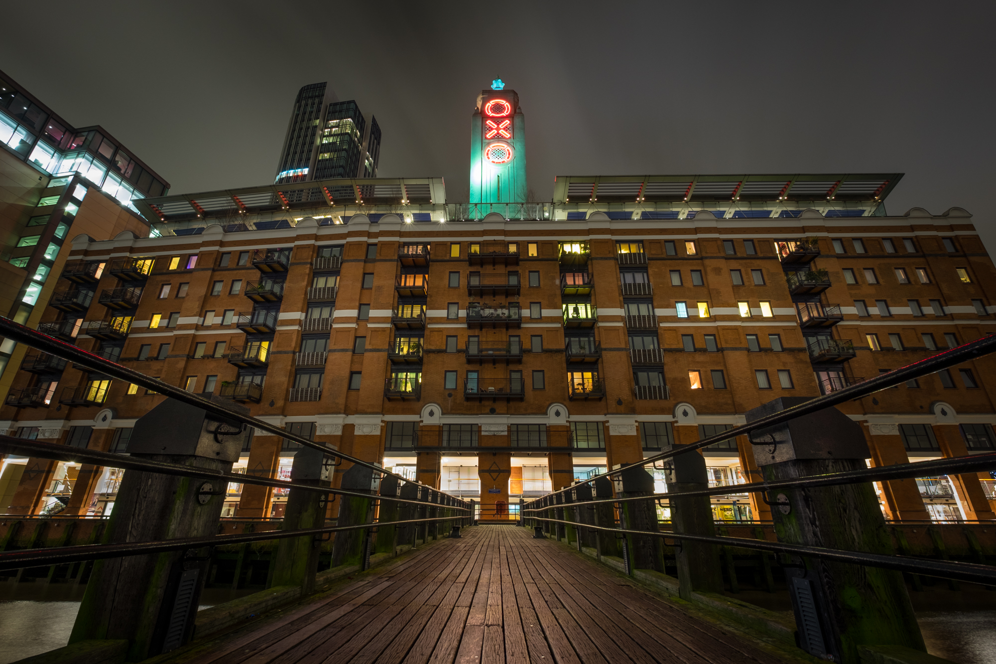 Photo of the Oxo Tower at night taken by Trevor Sherwin