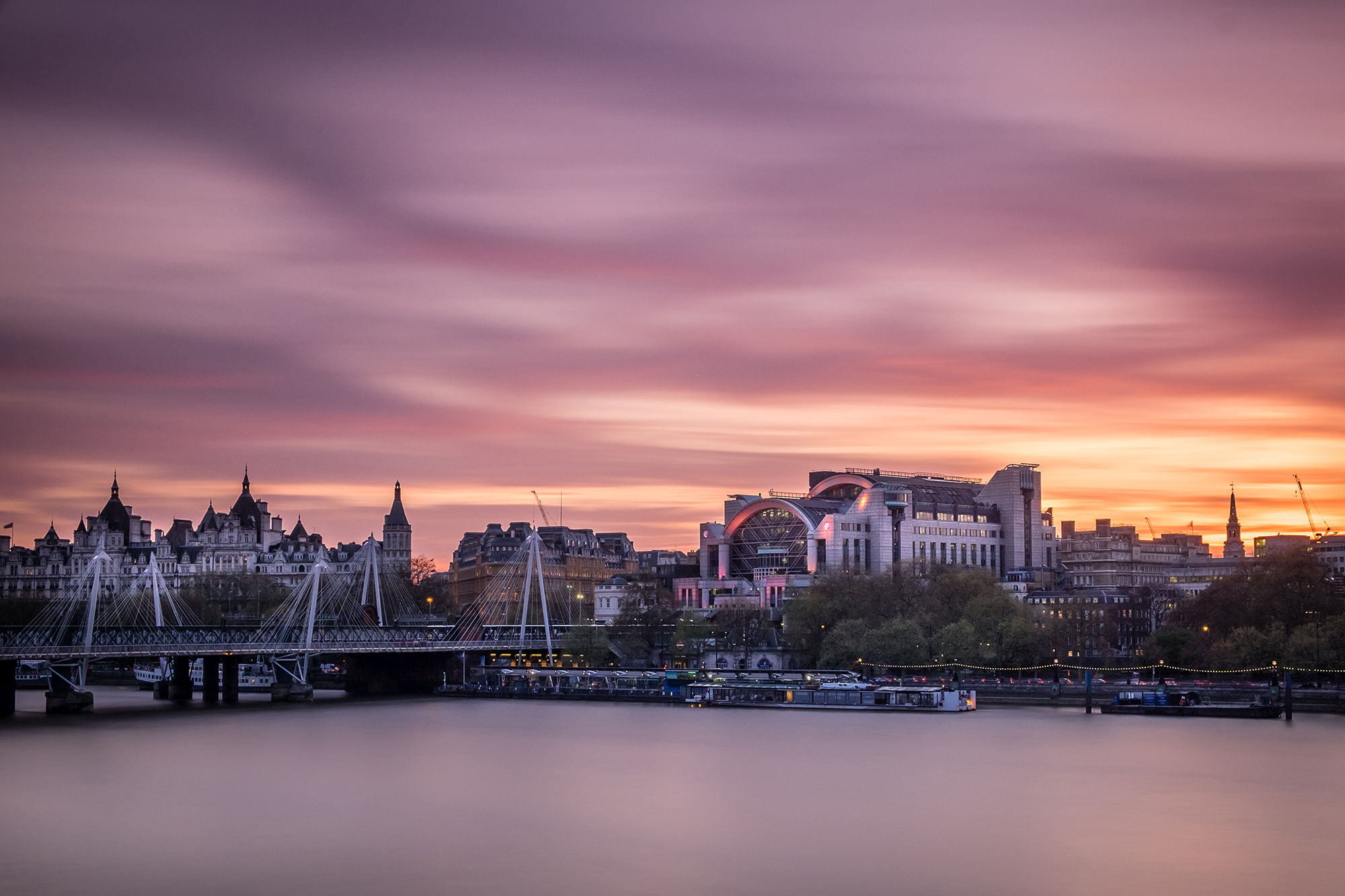 Photo of Charing Cross Station at sunset taken by Trevor Sherwin