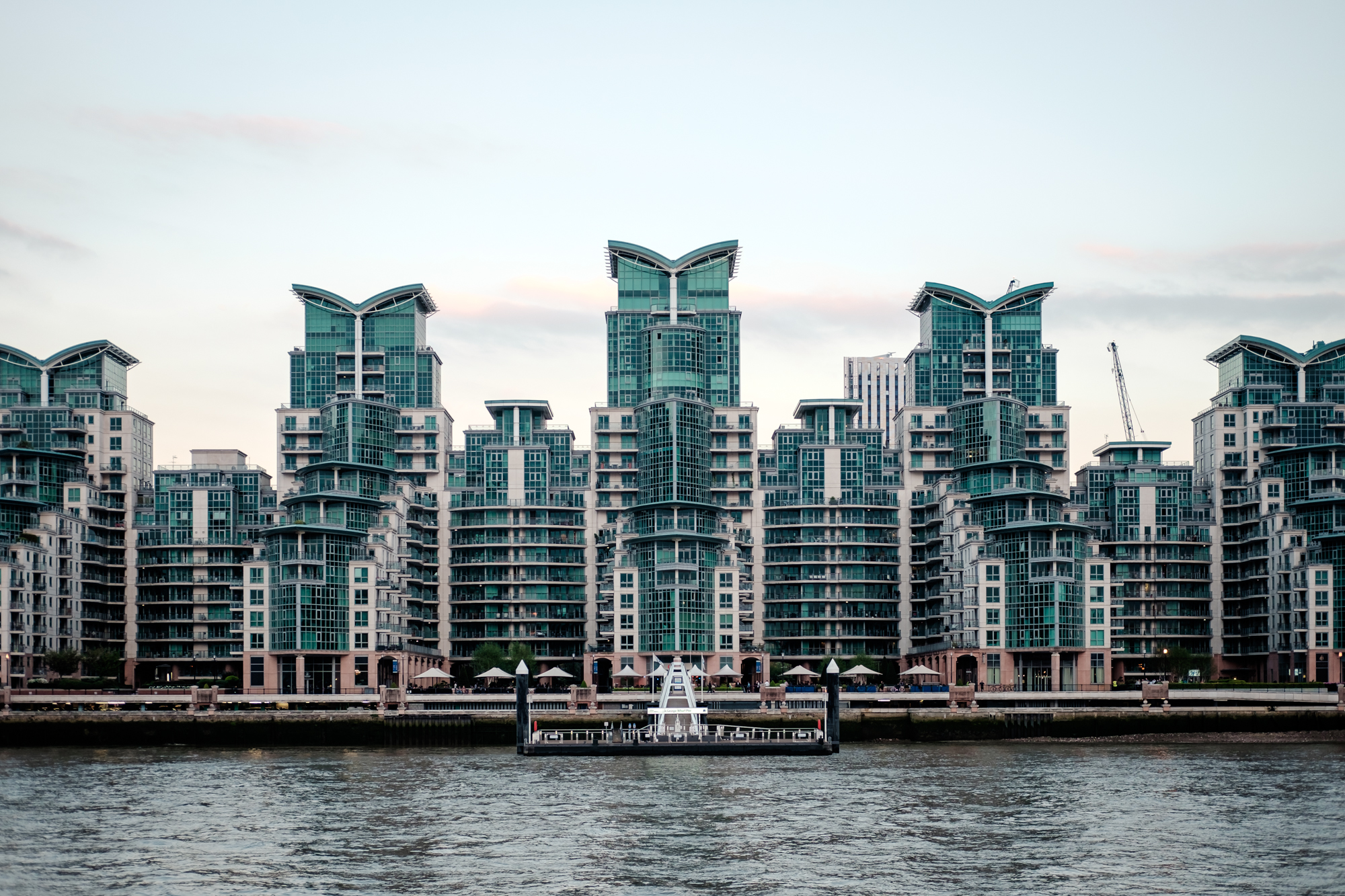 London Chrome photo of St Georges Wharf by Trevor Sherwin