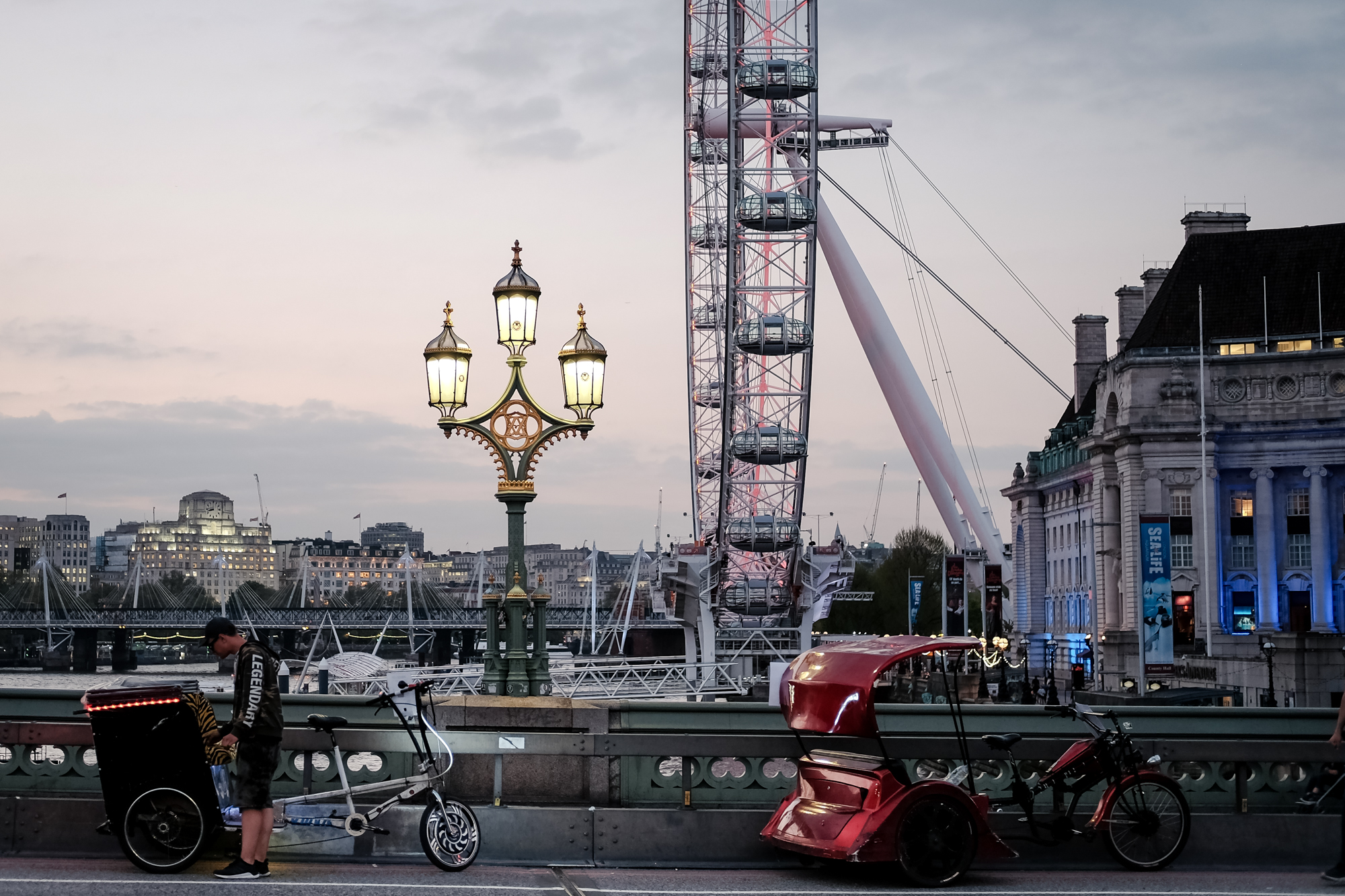 London Chrome photo of Westminster Bridge and the London Eye by Trevor Sherwin