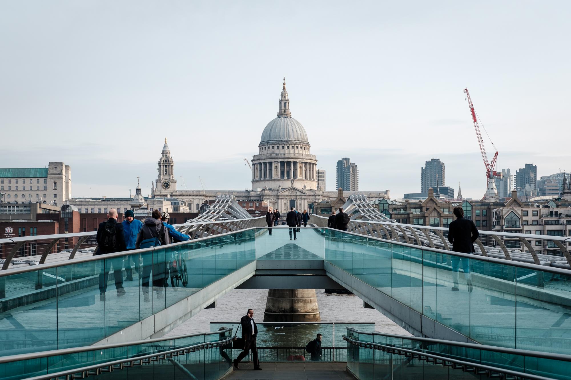 London Chrome photo of St Pauls and the Millennium Bridge taken by Trevor Sherwin