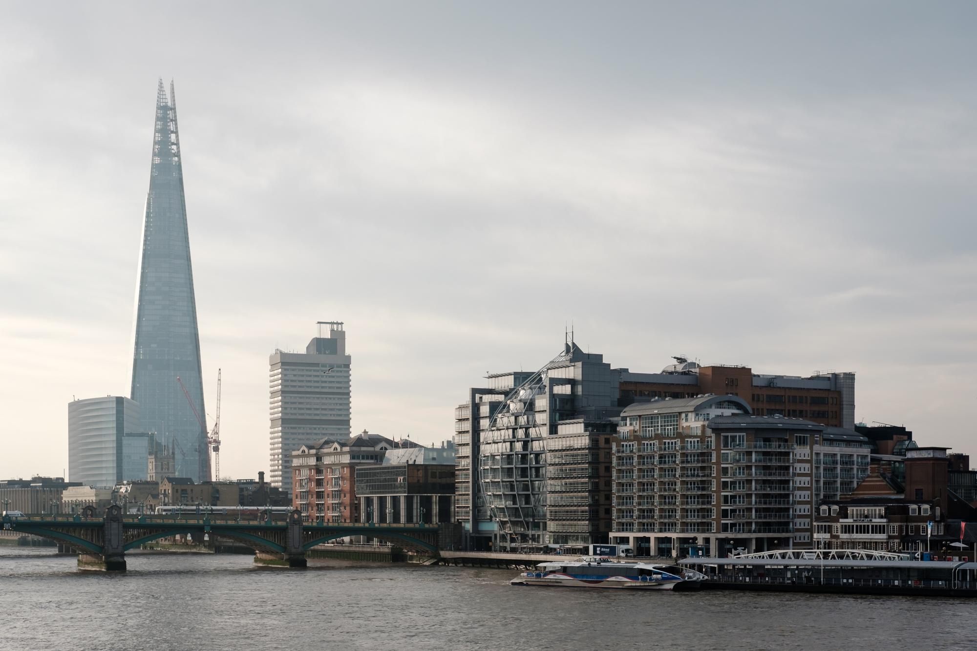 London Chrome photo the Shard along the Thames by Trevor Sherwin