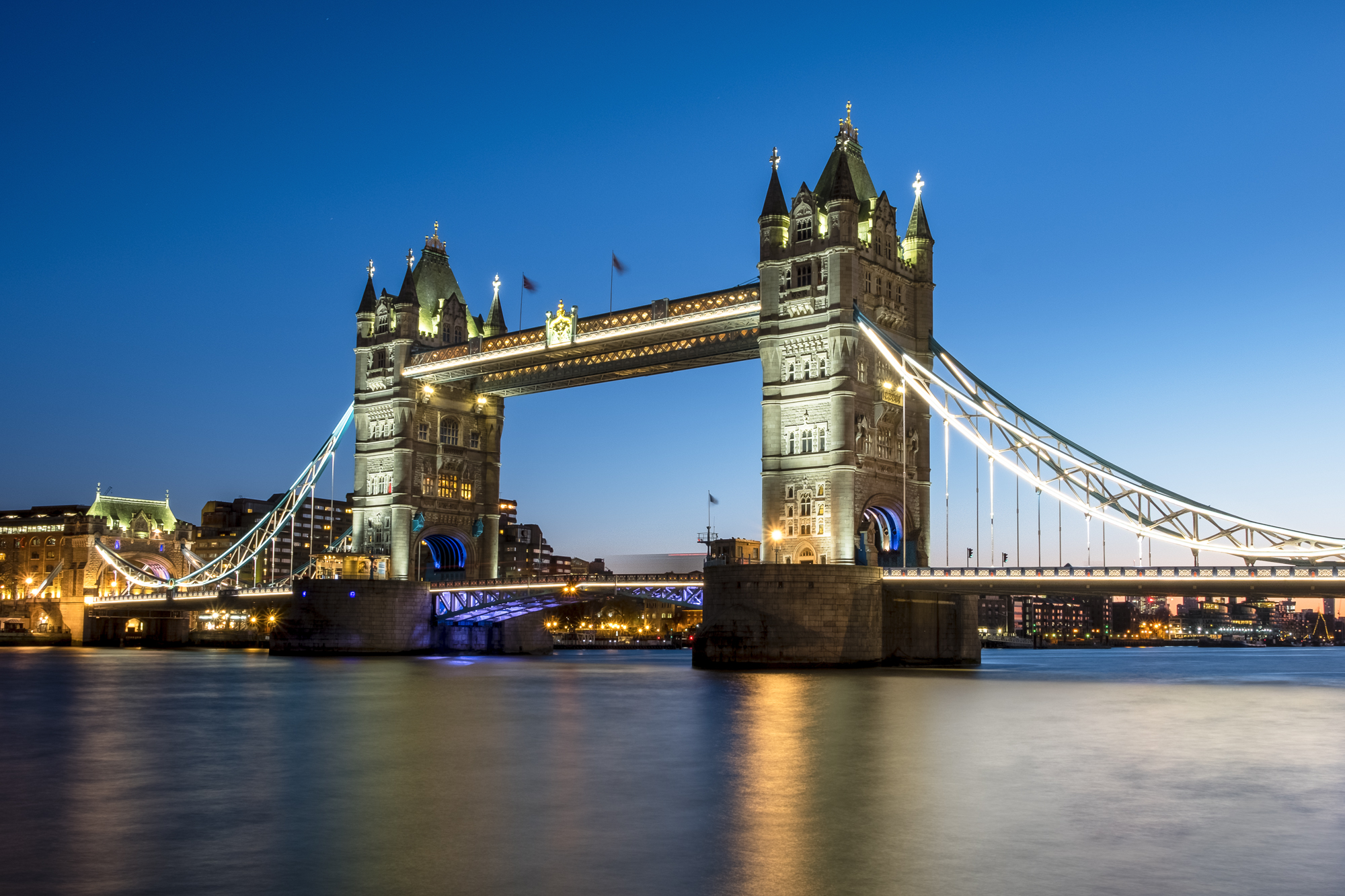 Photo of Tower Bridge London in the Blue Hour by Trevor Sherwin