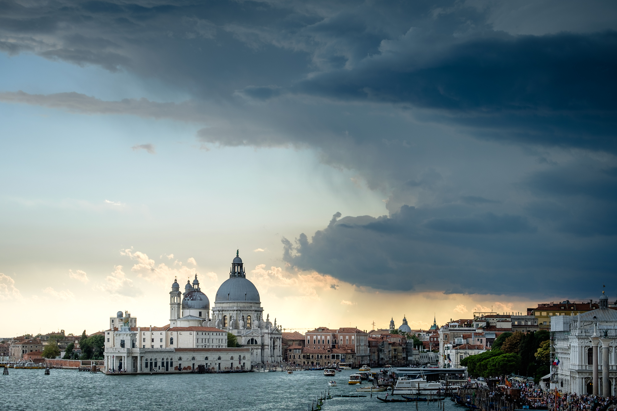 Photo of Basilica di Santa Maria della Salute with stormy clouds by Trevor Sherwin