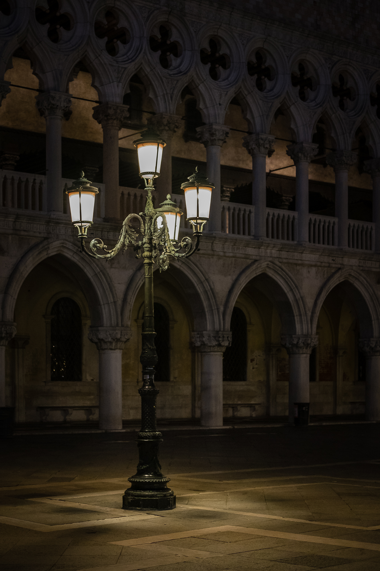 Photo of an Ornate lamp in St Marl's Square Venice by Trevor Sherwin