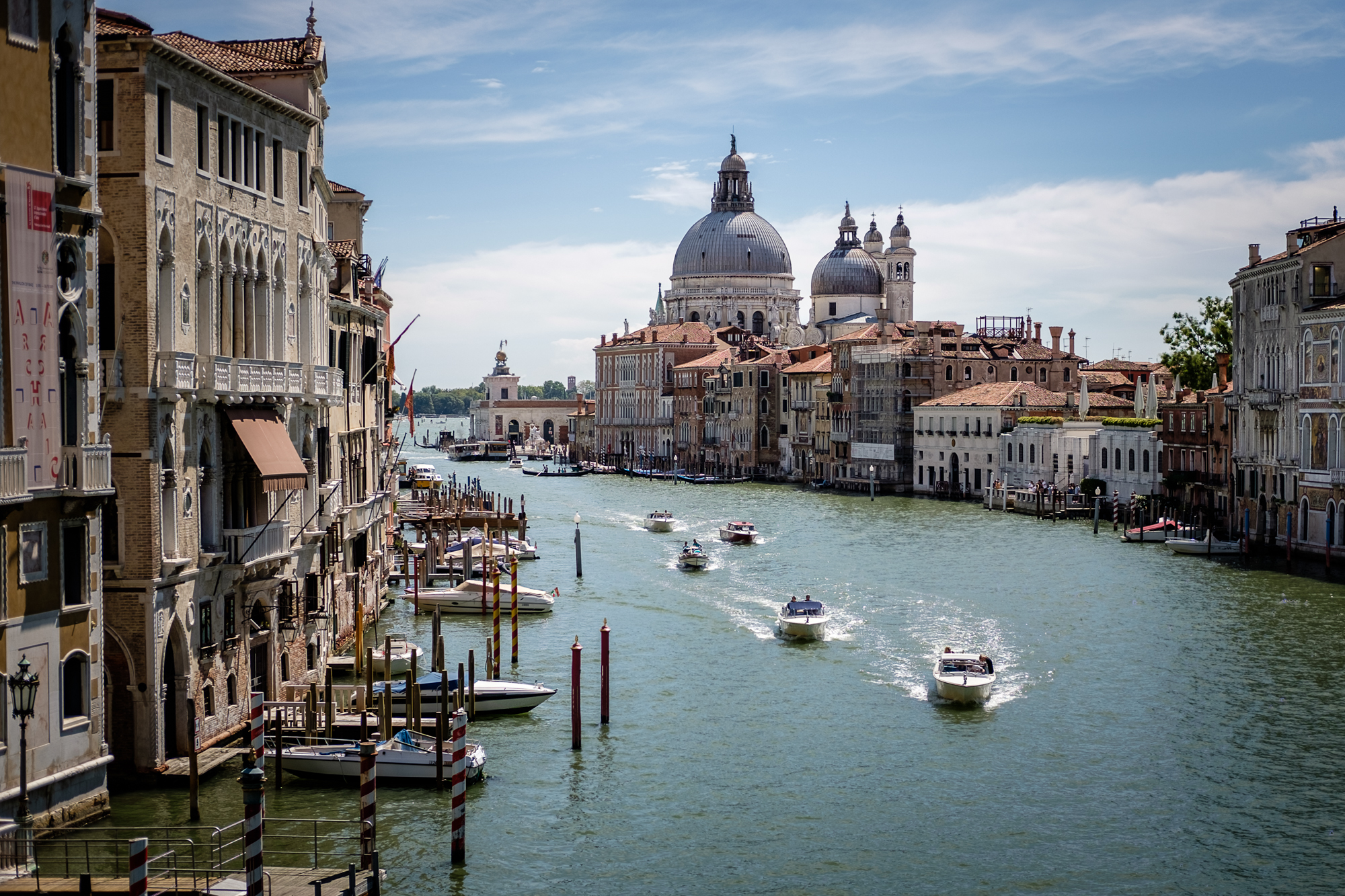 Photo of the Grand Canal taken of the Accademia Bridge by Trevor Sherwin