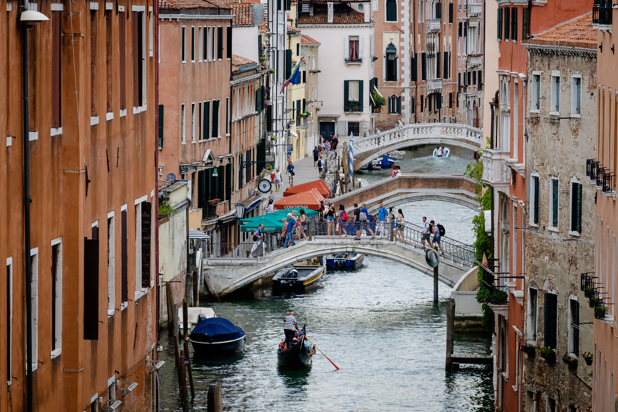 Photo of a venetian canal taken by Trevor Sherwin