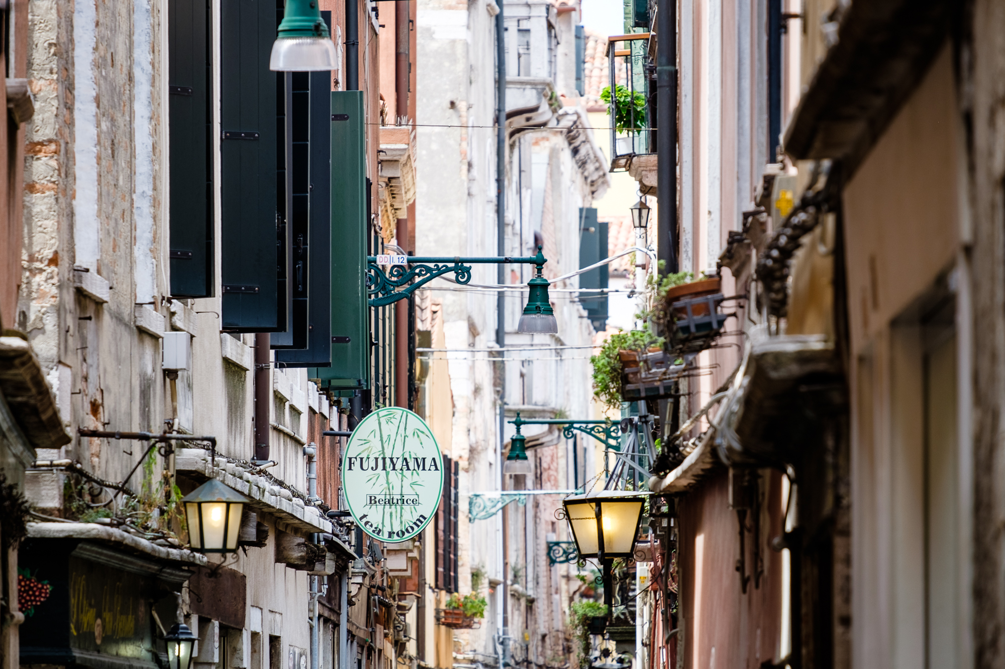 A photo of the narrow streets of Venice taken by Trevor Sherwin