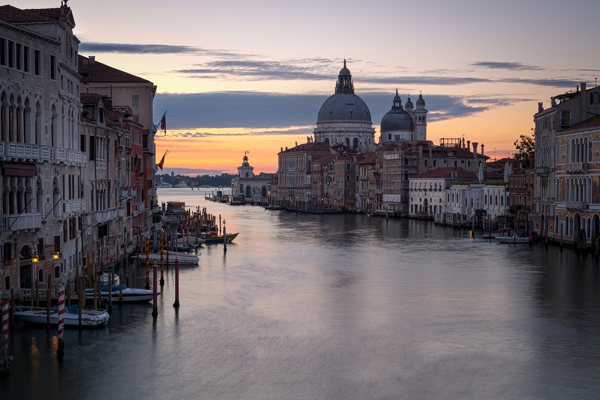 A photo of the Grand Canal at sunrise in Venice taken by Trevor Sherwin