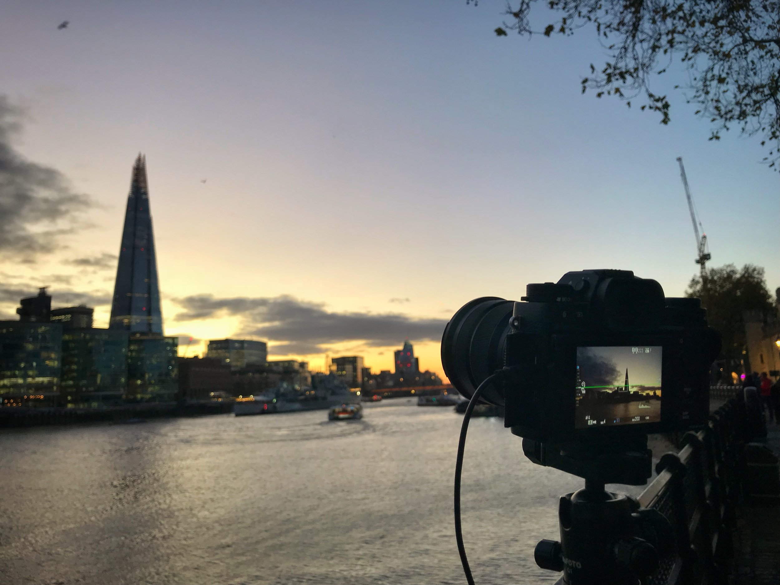 Behind the camera photo of the Fujifilm XT2 at the Shard by Trevor Sherwin