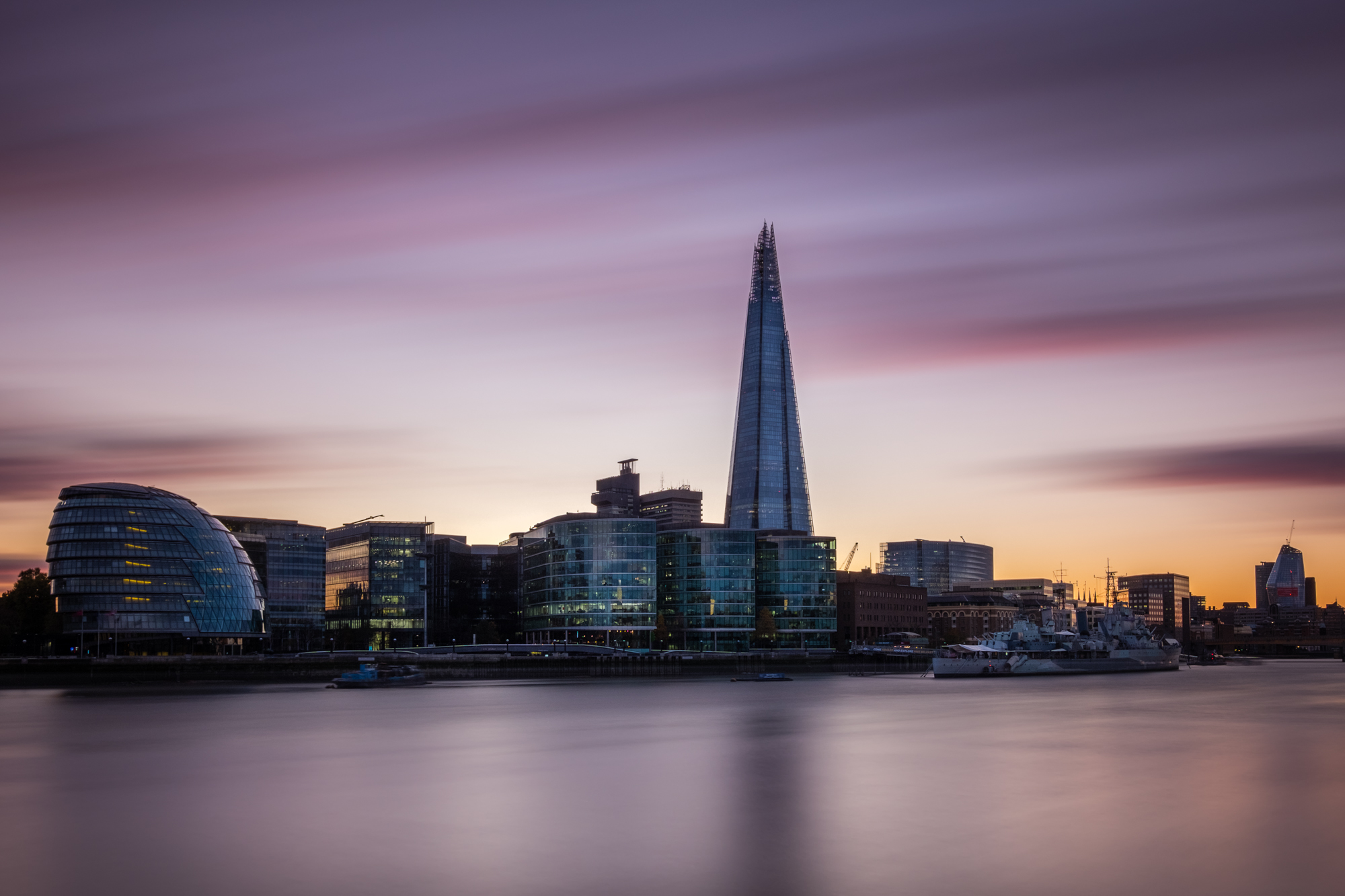 A photo of the Shard at sunset in London taken by Trevor Sherwin