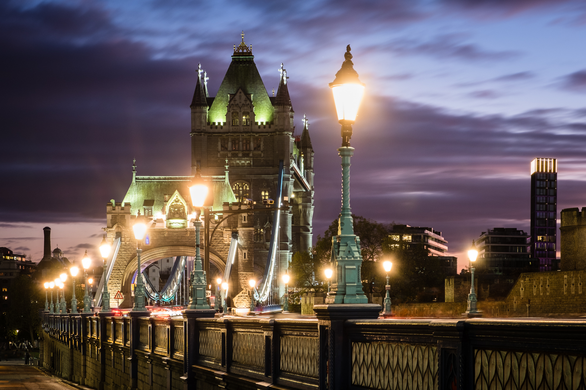 A photo of Tower Bridge at the blue hour in London taken by Trevor Sherwin