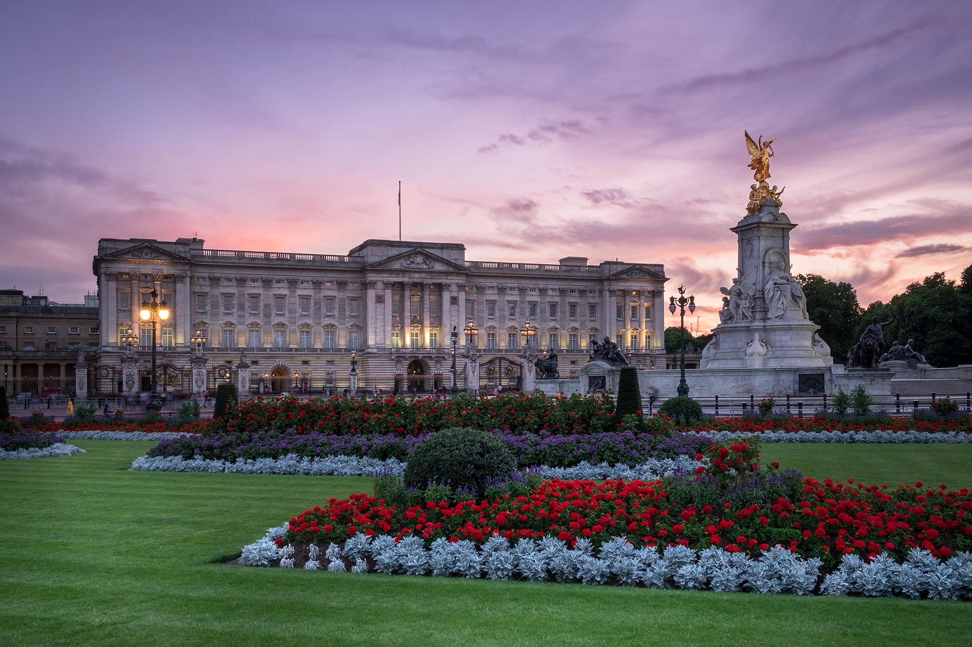 Photo of Buckingham Palace in London taken at sunset by Trevor Sherwin