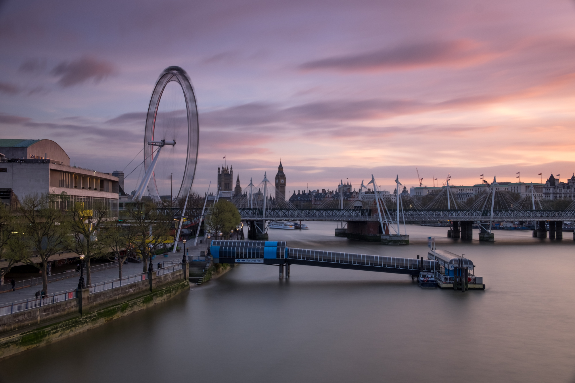 RAW image of the sunset at the South Bank taken by Trevor Sherwin