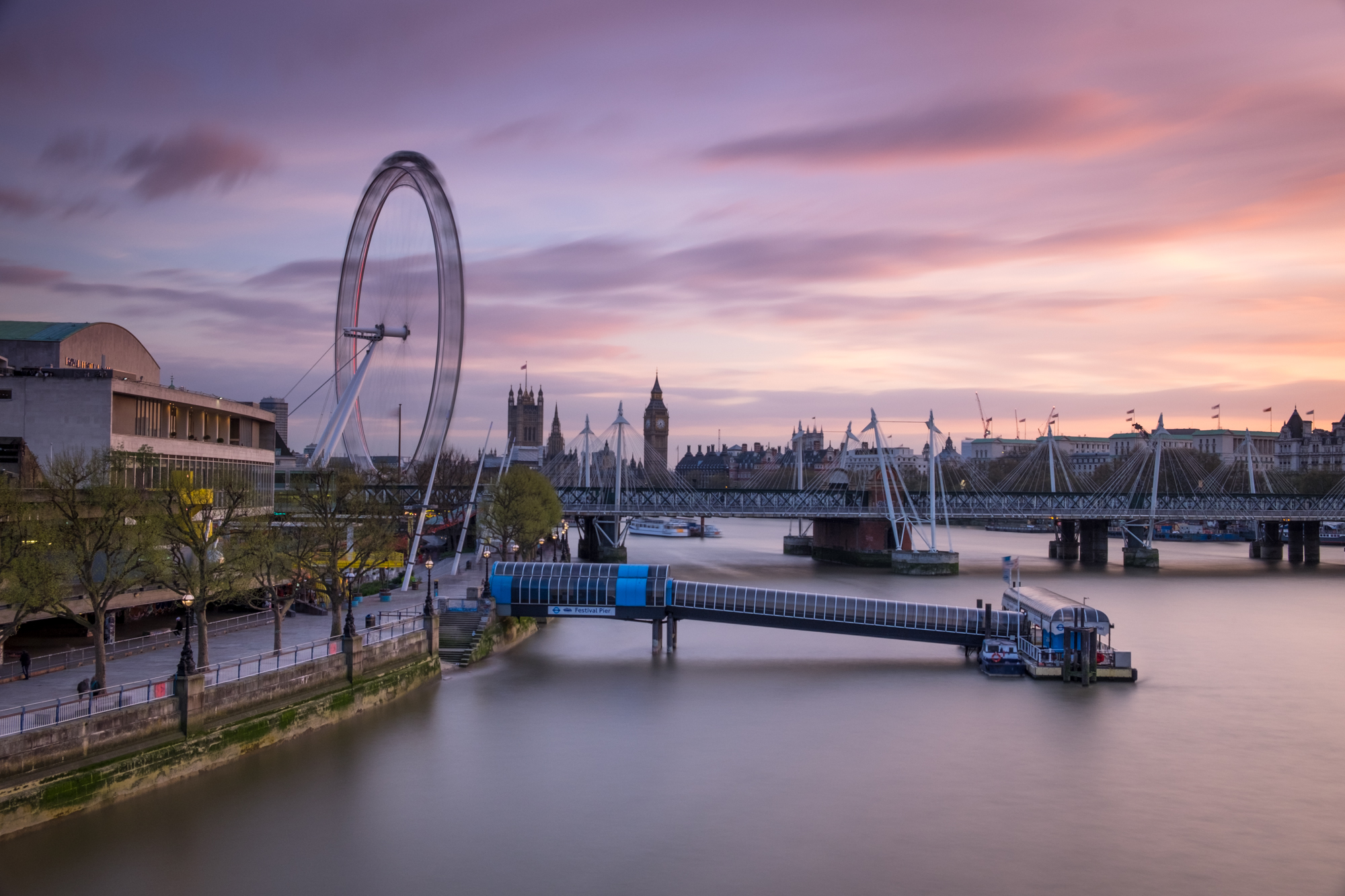 Sunset at the South Bank with graduated filter by Trevor Sherwin