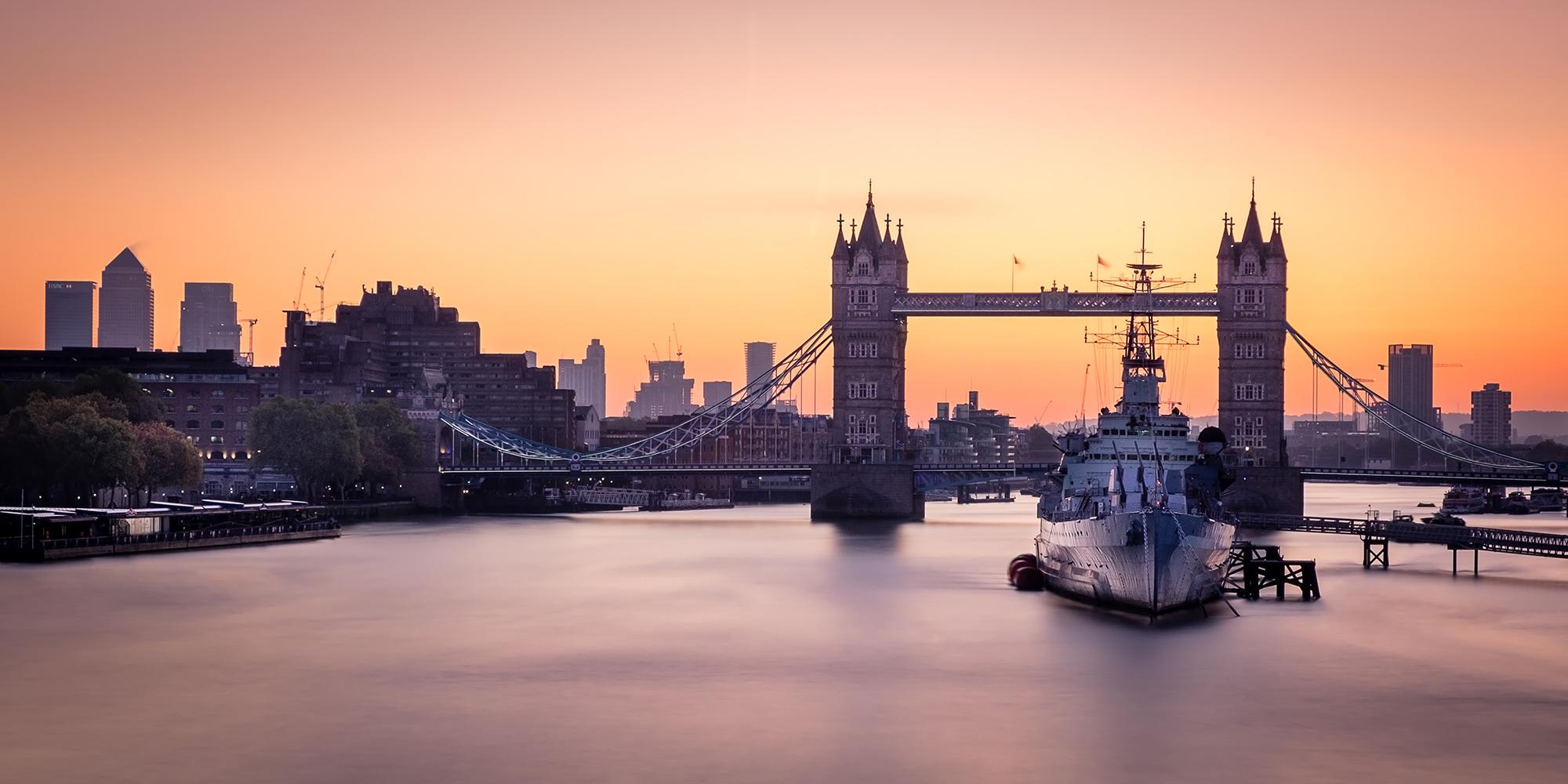 Photo of Tower Bridge at sunrise taken by Trevor Sherwin