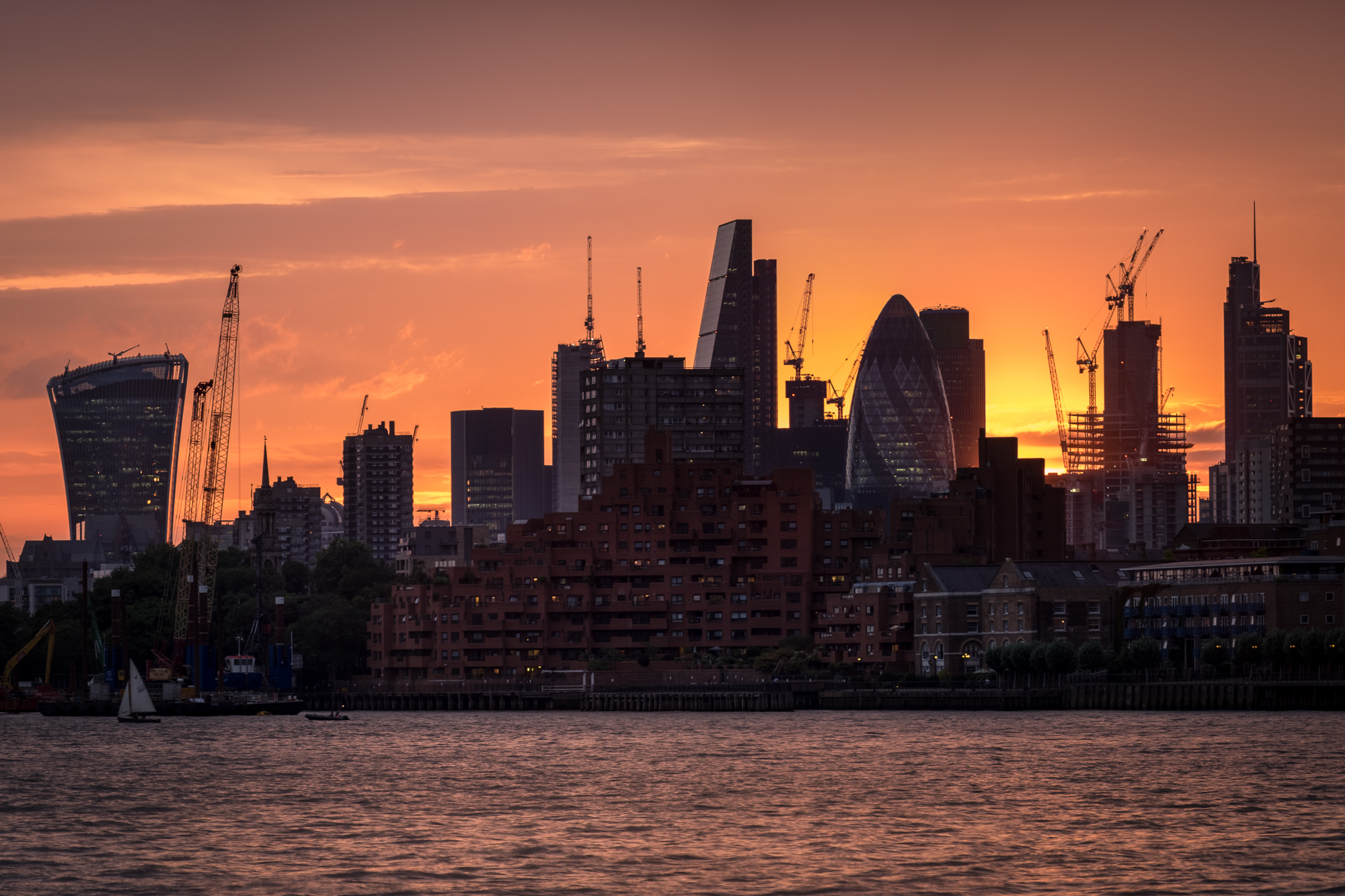 Photo of the city of London at sunset taken by Trevor Sherwin