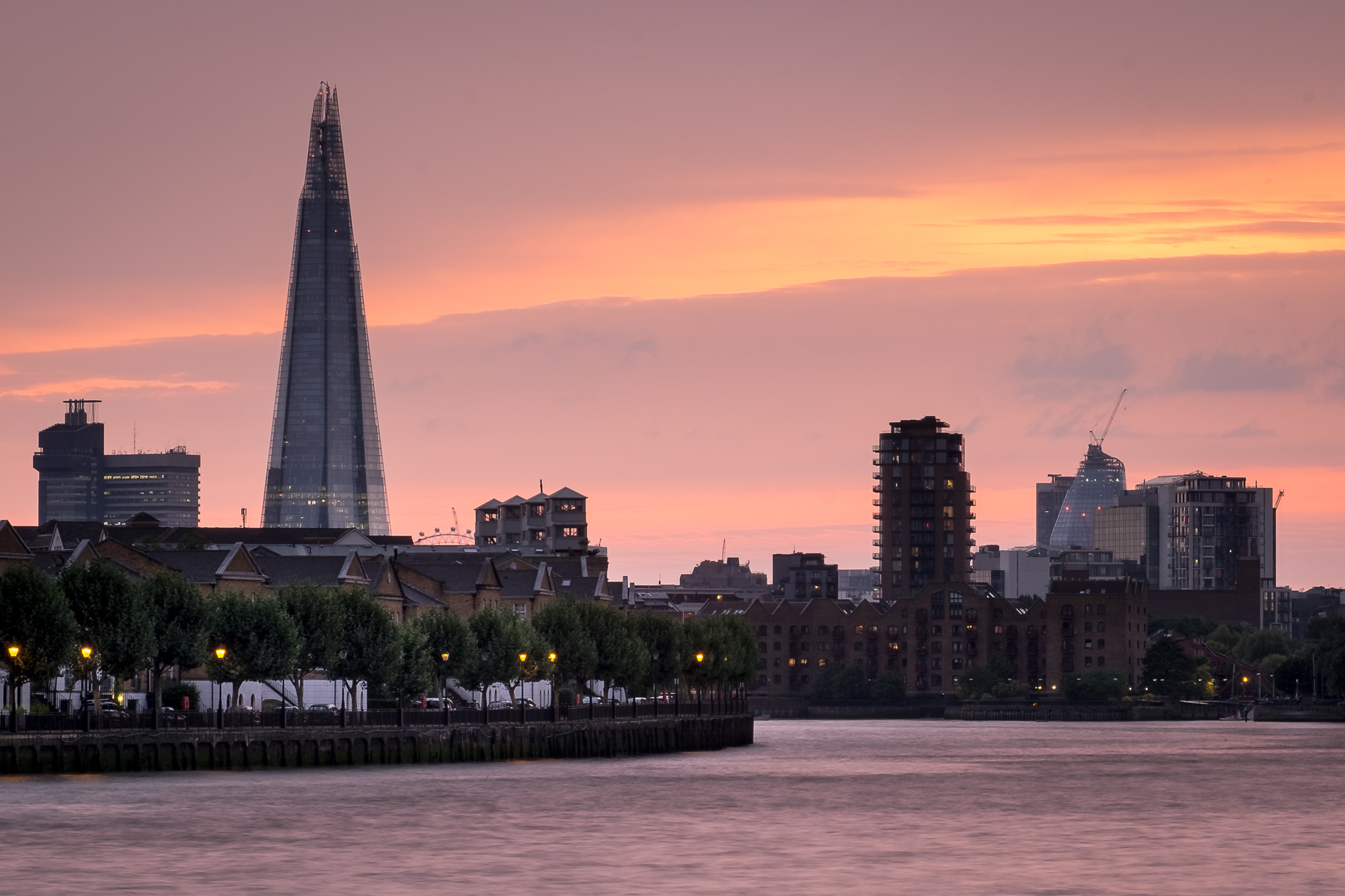 Photo of the Shard at sunset taken by Trevor Sherwin