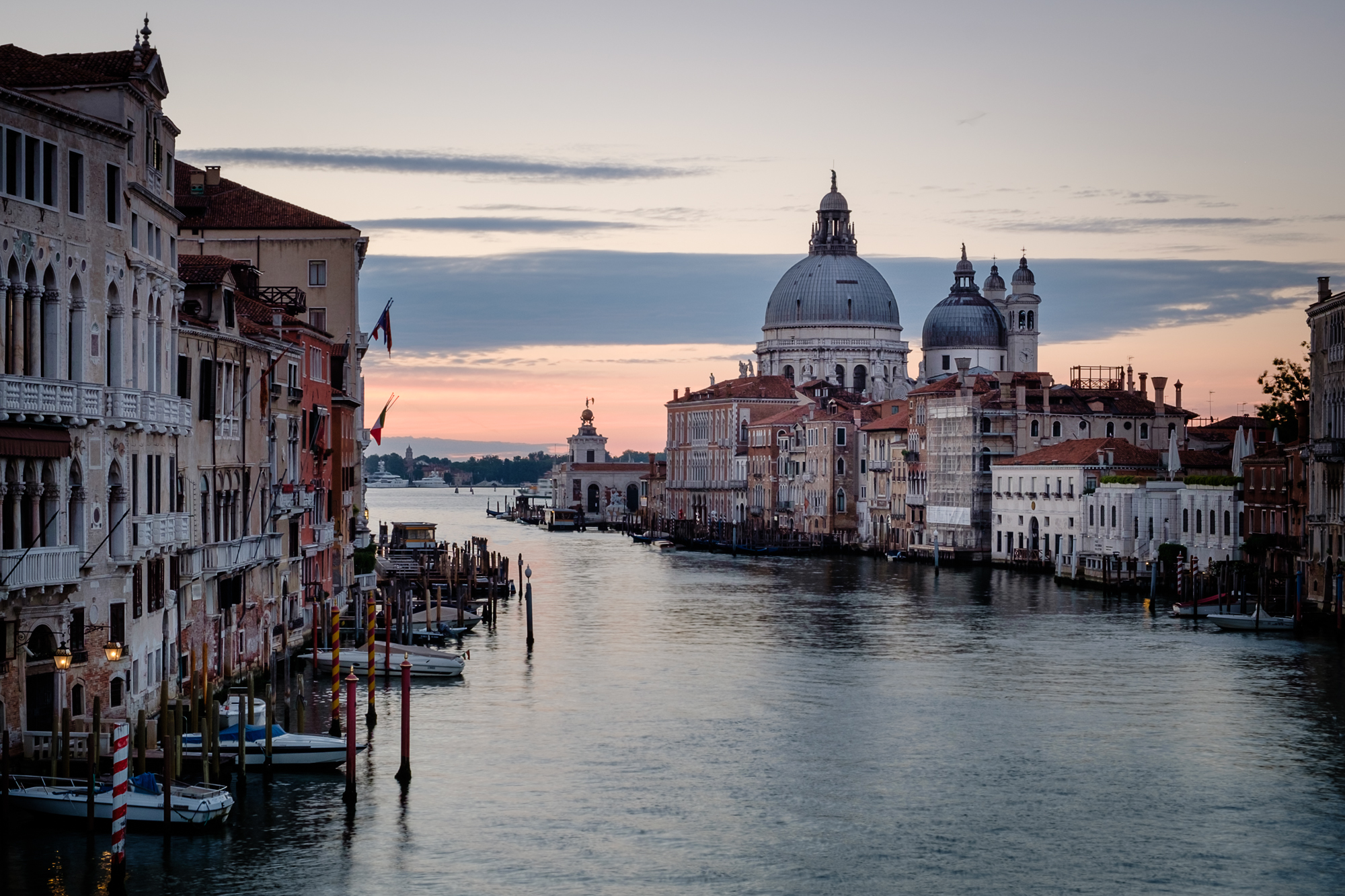 The Grand Canal at sunrise in Venice Taken by Trevor Sherwin