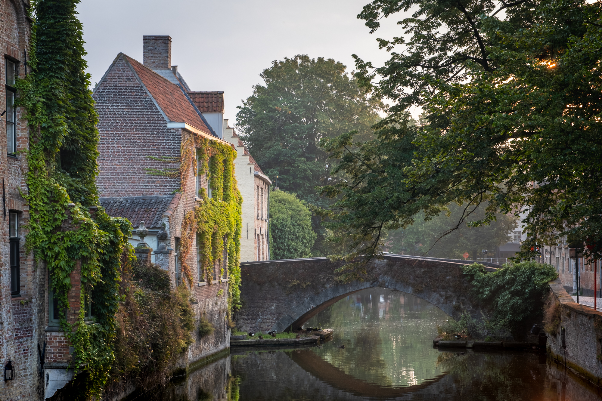 Groenerei Canal at Sunrise, Bruges