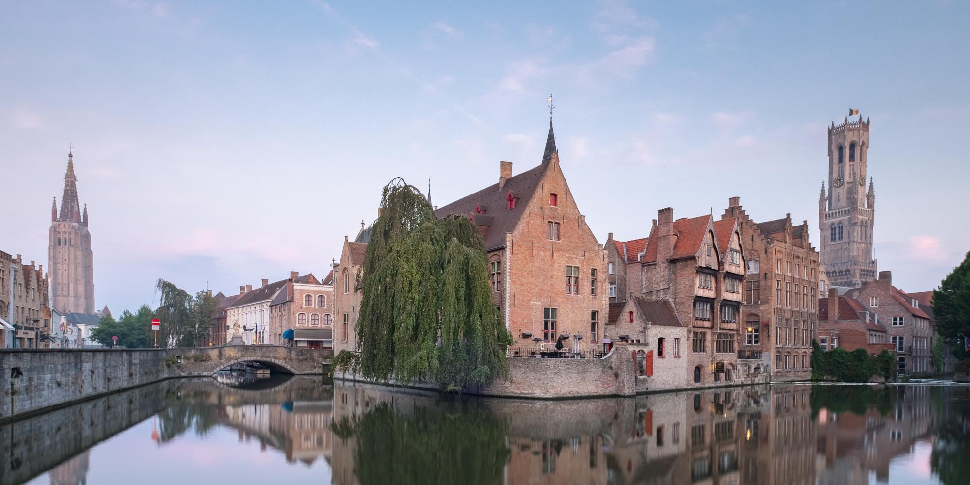 Dijver Canal at Sunrise, Bruges