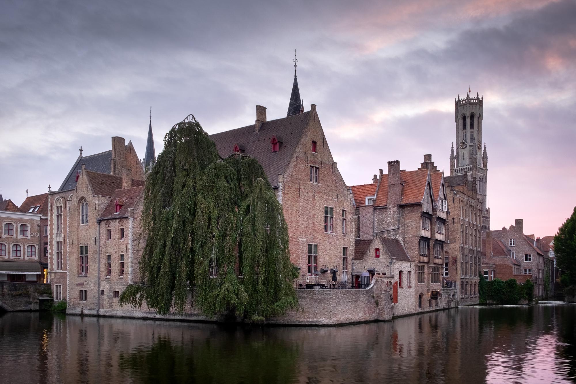 Dijver Canal at Sunrise, Bruges IV