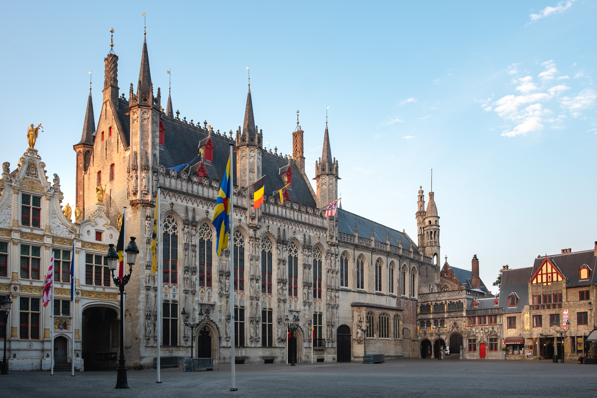 A photo of Town Hall on Burg Square in Bruges, Belgium taken by Trevor Sherwin