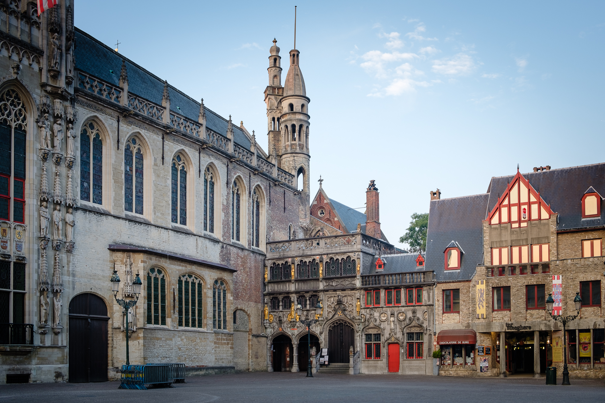 A photo of Burg Square in Bruges, Belgium taken by Trevor Sherwin