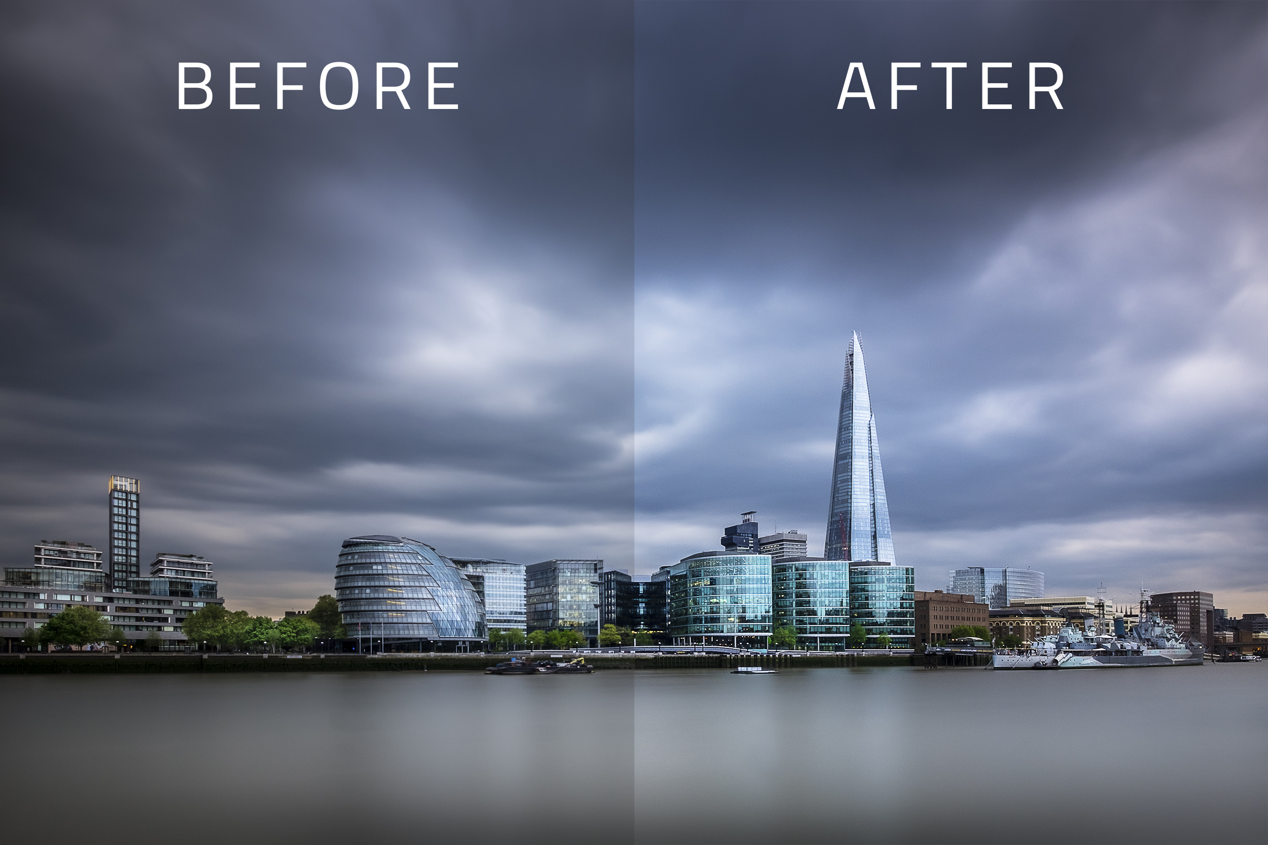 Before and after image ready to print by Trevor Sherwin