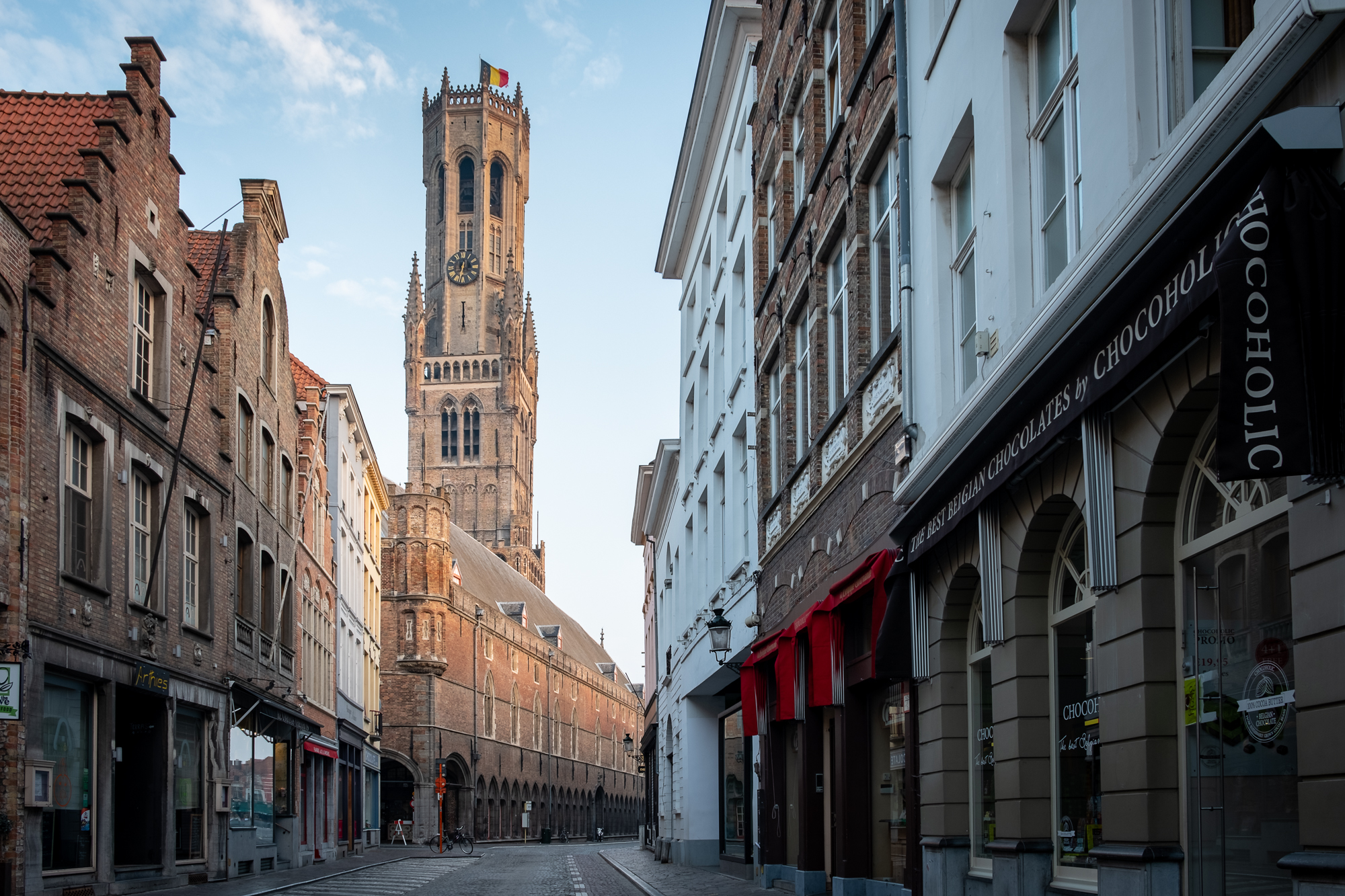 A photo of the Belfry Tower in Bruges, Belgium taken by Trevor Sherwin