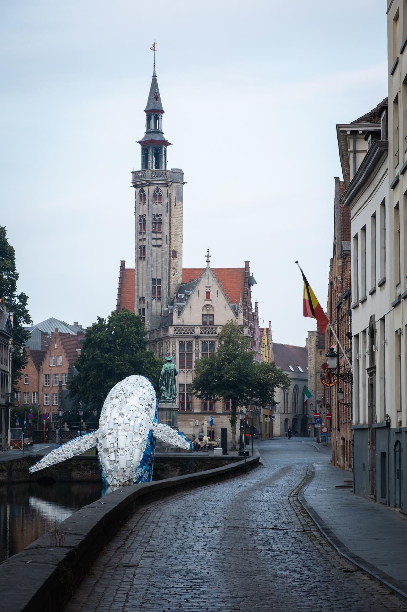 A photo of Poortersloge at Jan van Eyckplein in Bruges , Belgium taken by Trevor Sherwin