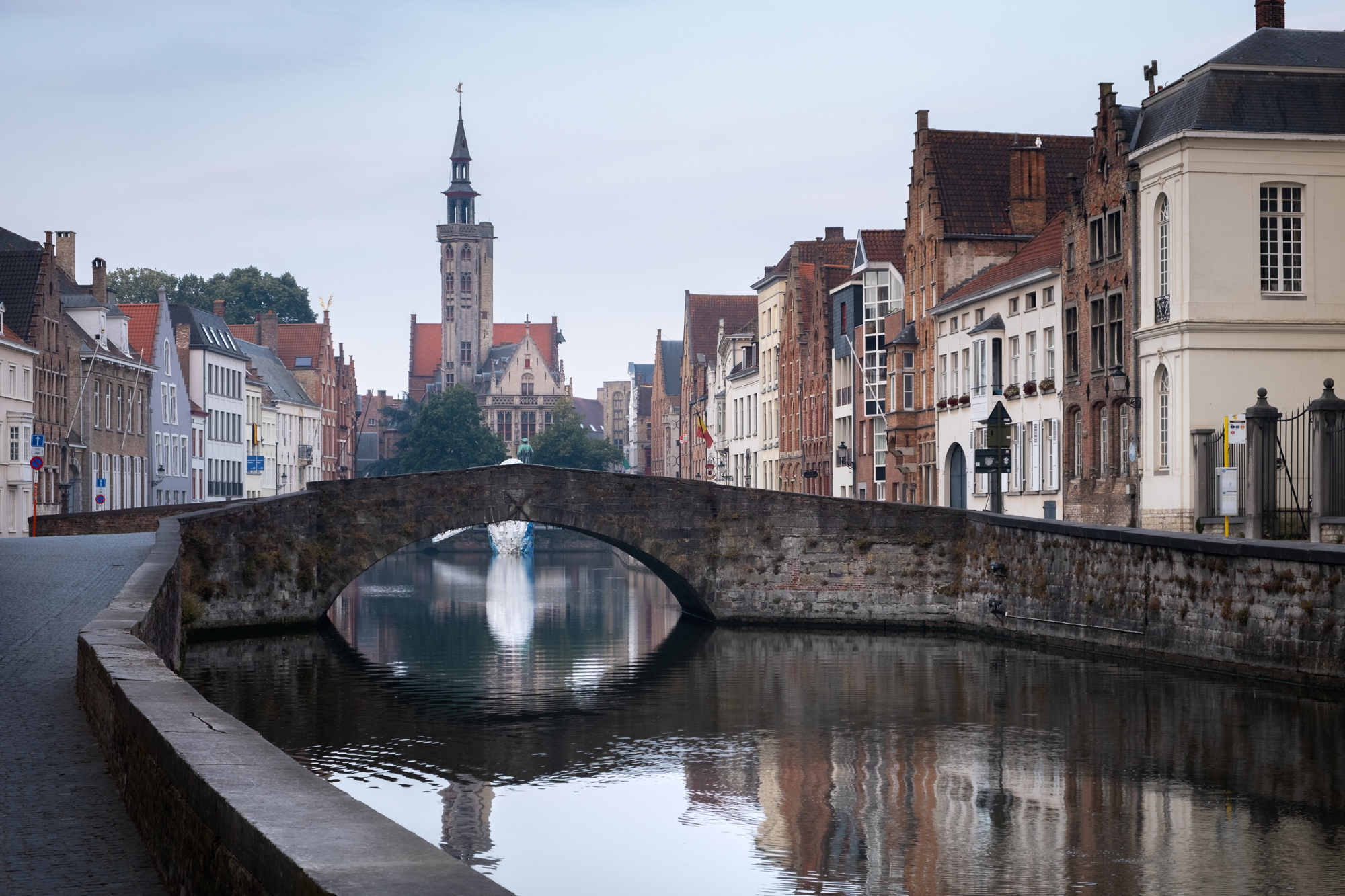 A photo of Poortersloge along the canal in Bruges , Belgium taken by Trevor Sherwin