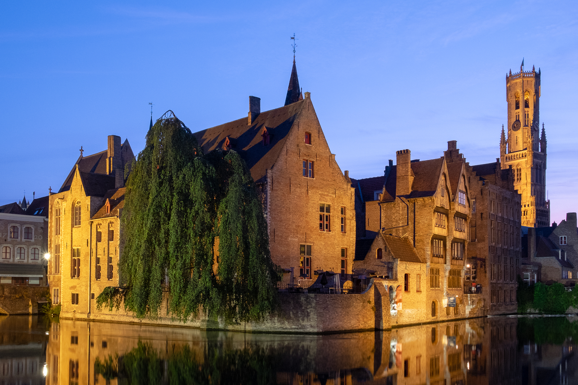 A photo of the Relais Bourgondisch Cruyce at Blue Hour in Bruges, Belgium taken by Trevor Sherwin