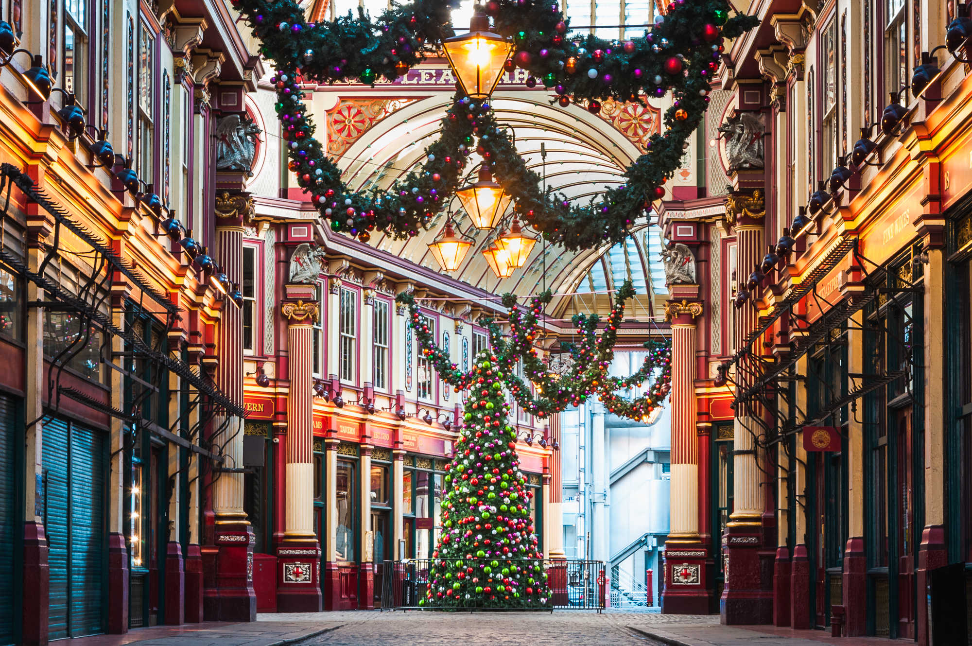 A photo of a christmas tree at Leadenhall Market taken by Trevor Sherwin