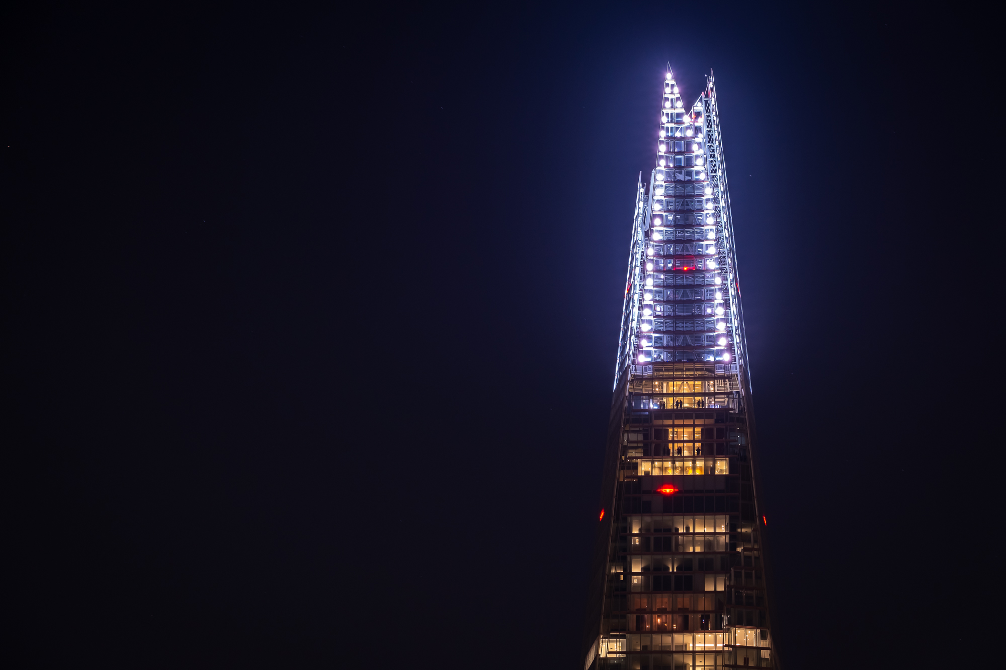 A photo of the Shard Lights in London Taken by Trevor Sherwin