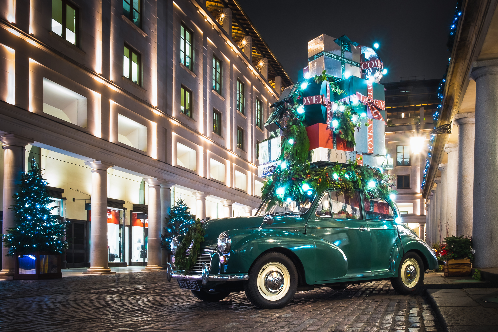 A photo of a Morris Minor car in Covent Garden London taken by Trevor Sherwin