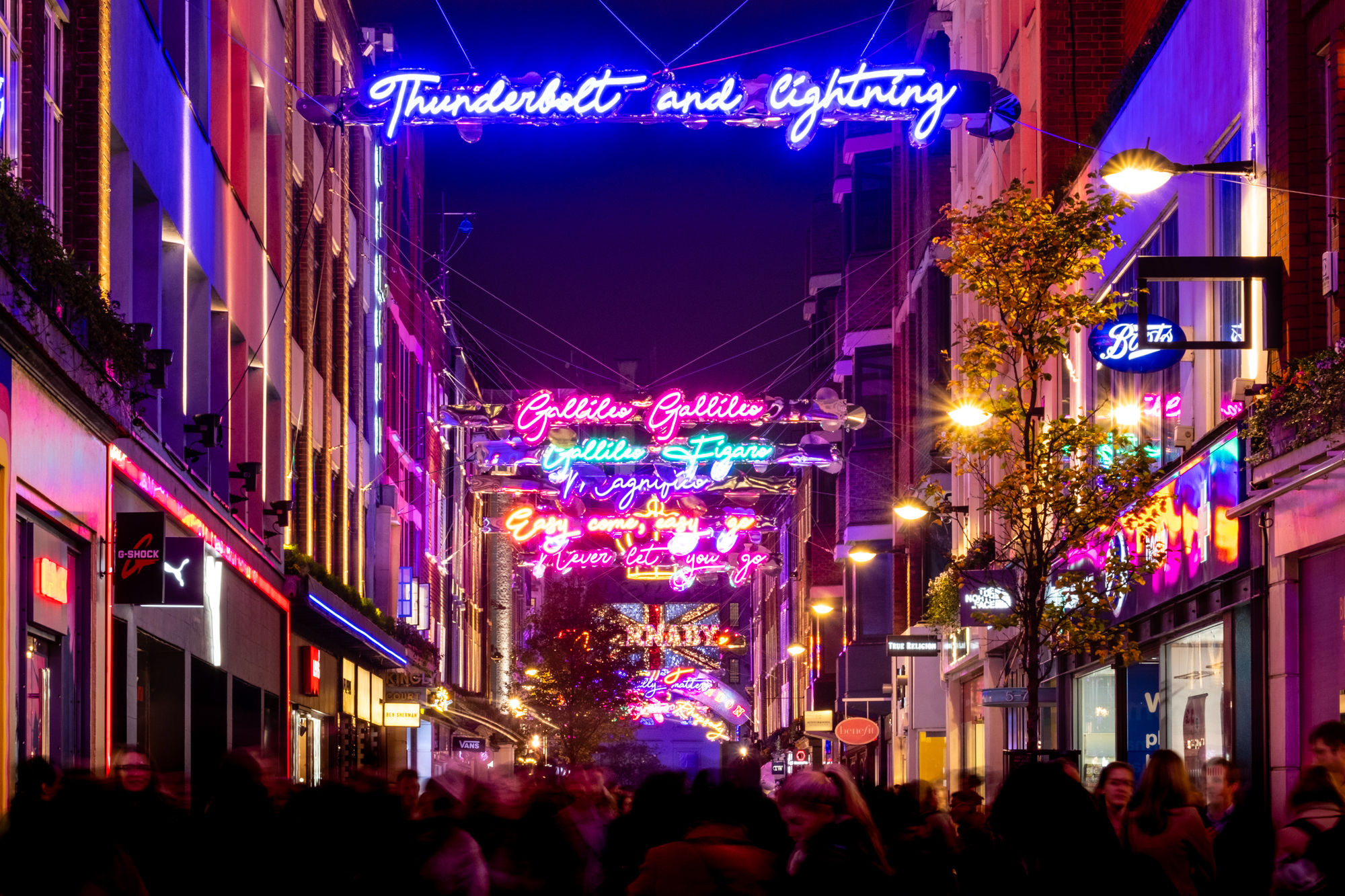A photo of the christmas lights at Carnaby Street London taken by Trevor Sherwin