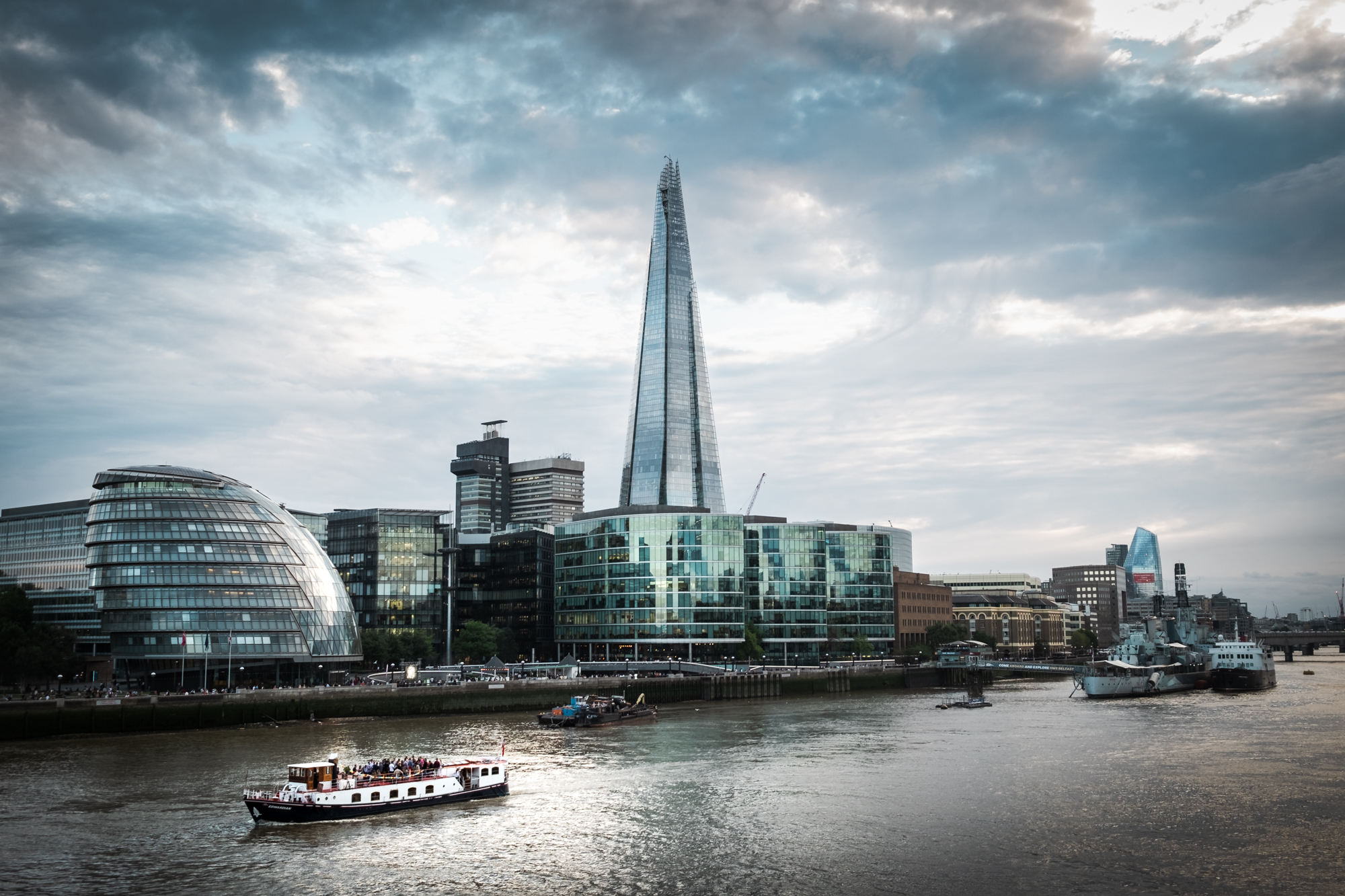 A photo of The Shard from the London Chrome Project taken by Trevor Sherwin