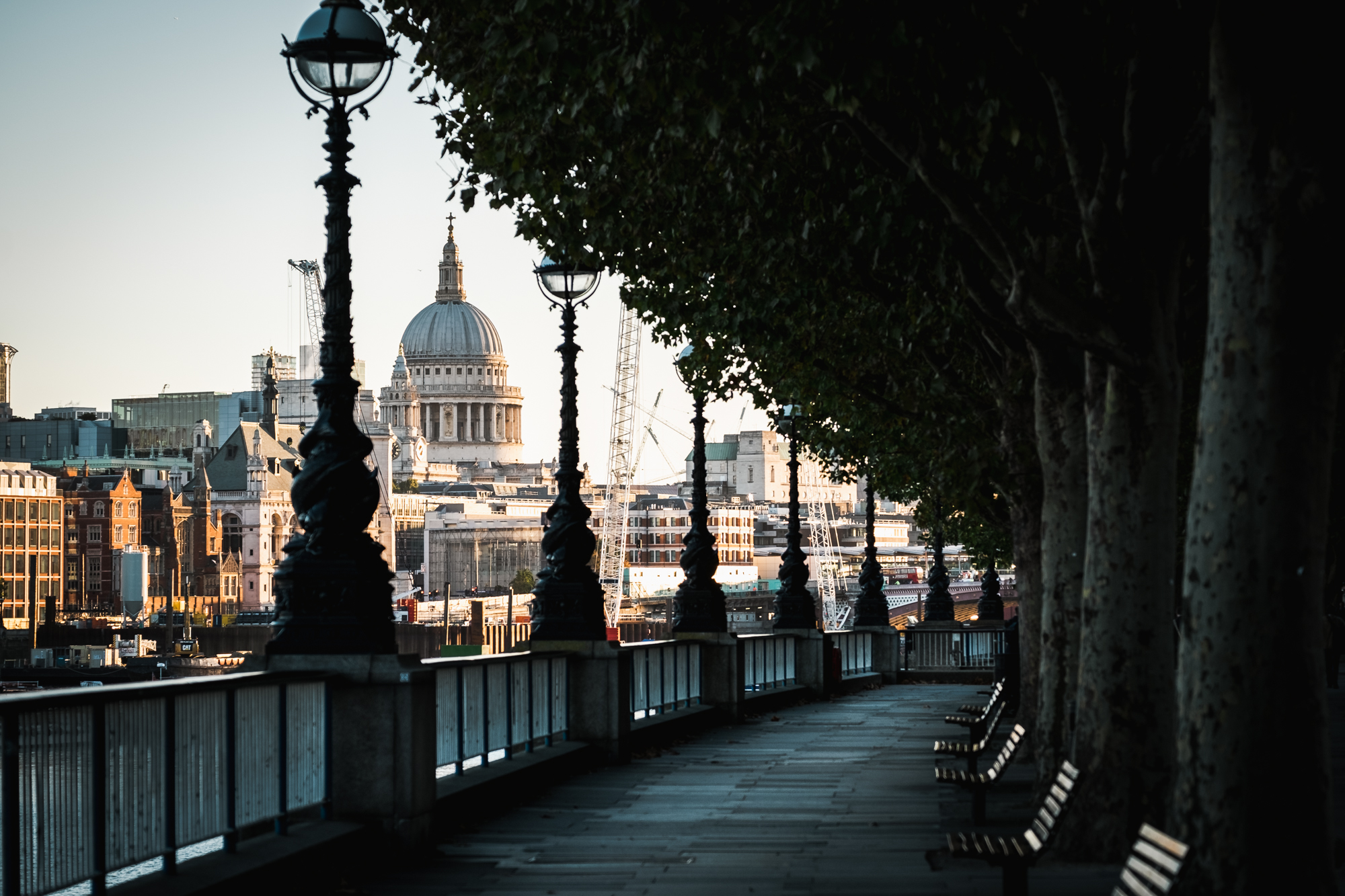 A photo of St Pauls from the South Bank from the London Chrome Project taken by Trevor Sherwin