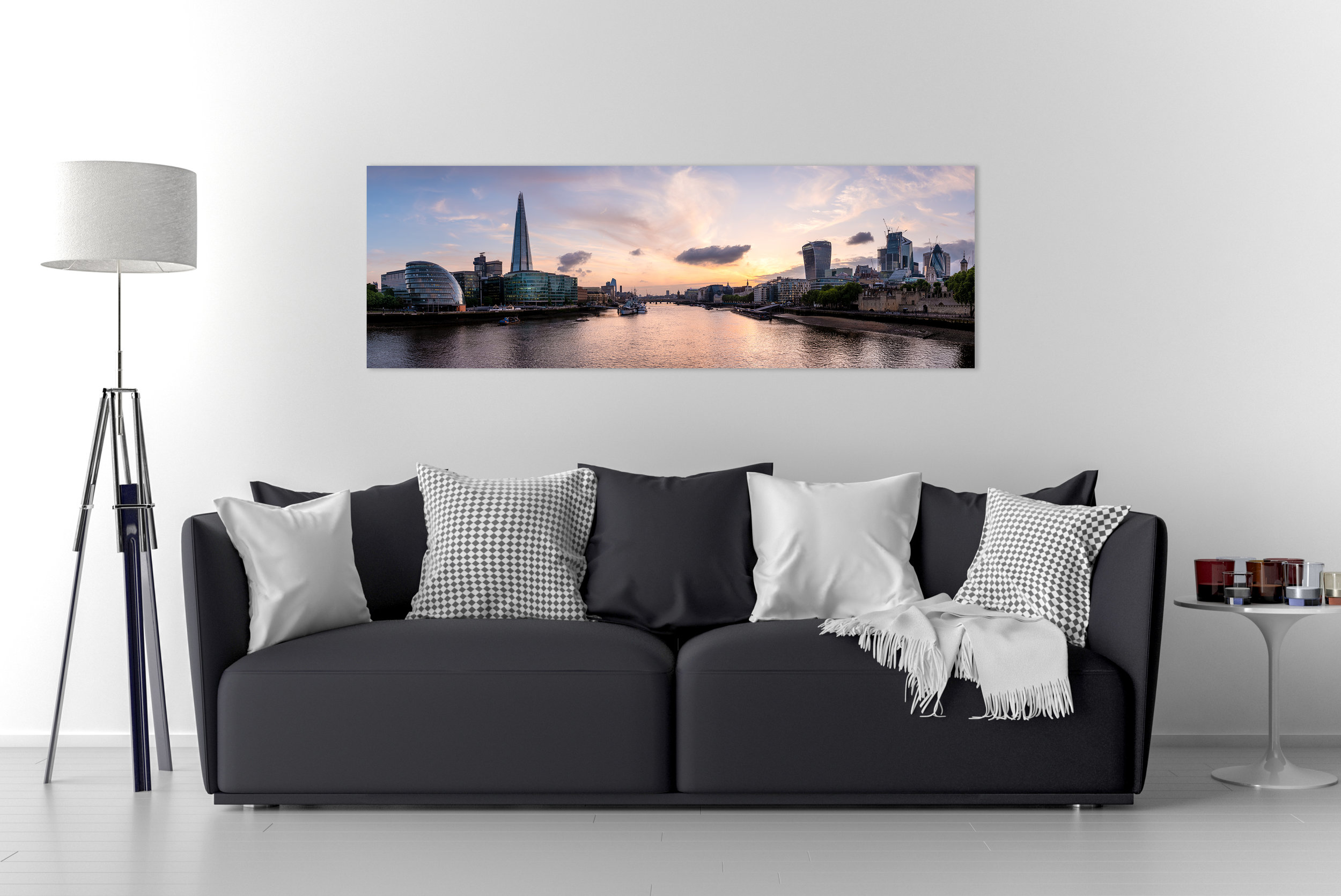 Panoramic Wall Art - Create a high impact focal point for any room featuring one of my super high resolution panoramic images printed on either Acrylic of Aluminium