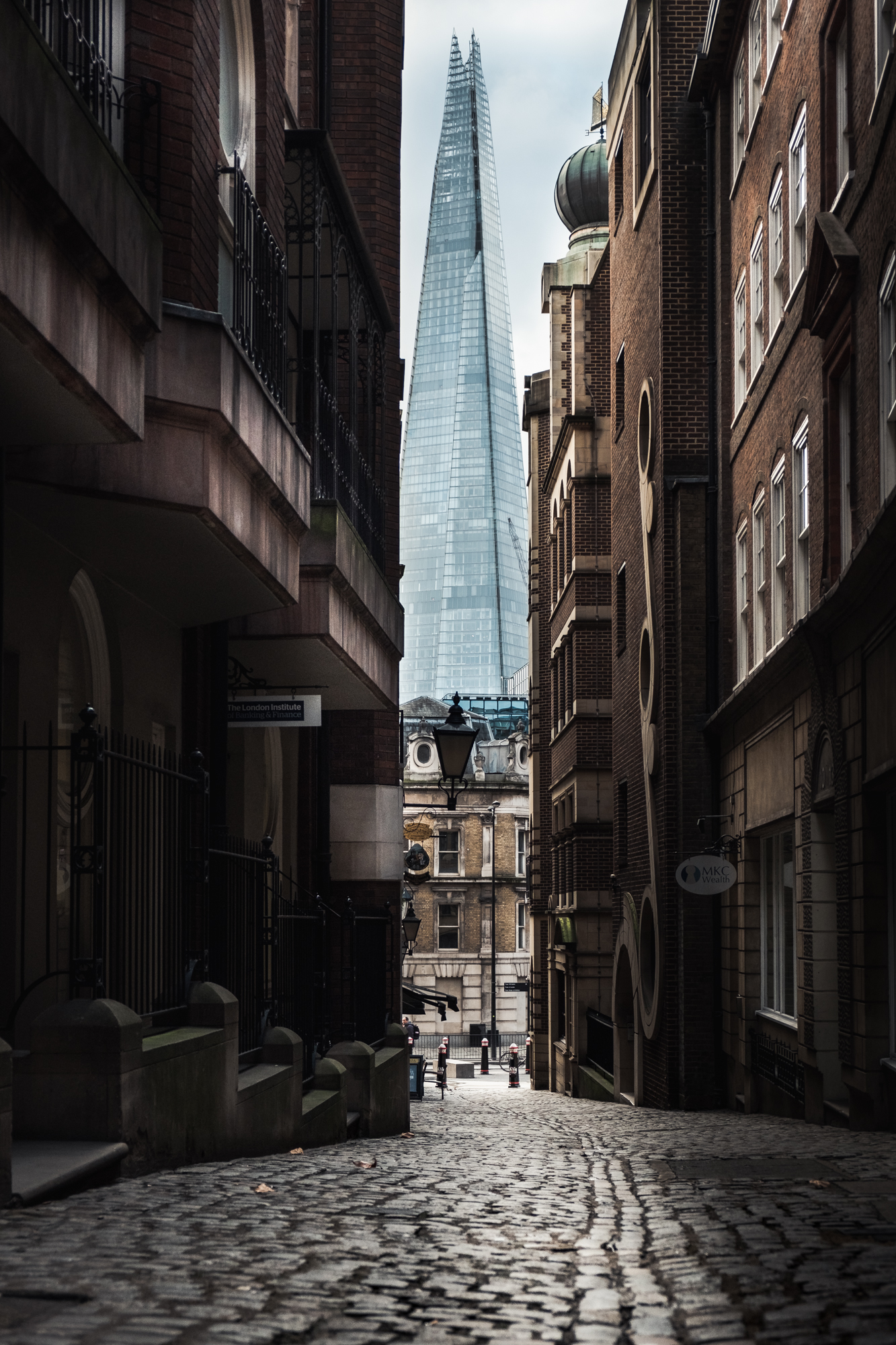 A photo of Lovat Lane and the Shard in London by Trevor Sherwin Photography