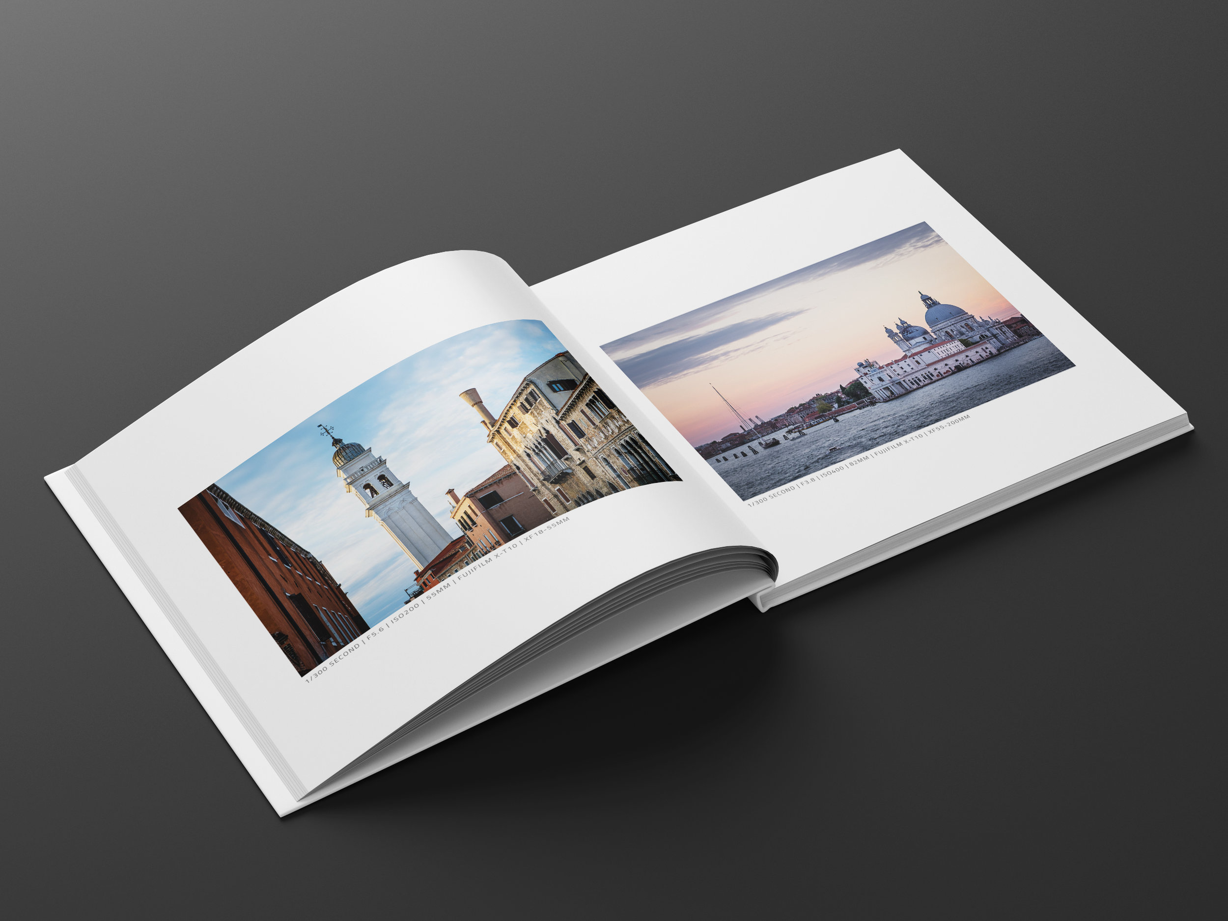 A weekend on Venice photo book inside pages
