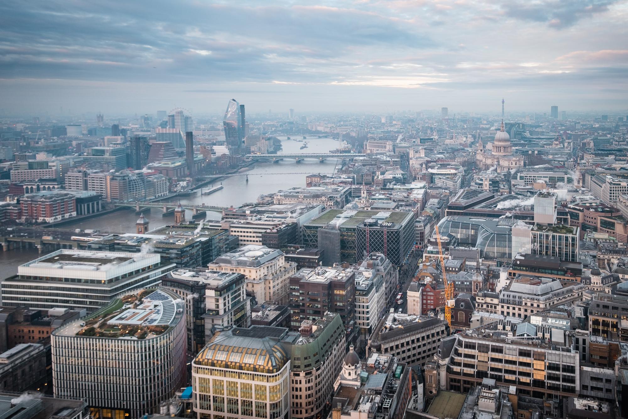 The view across West London taken from the Sky Garden by Trevor Sherwin